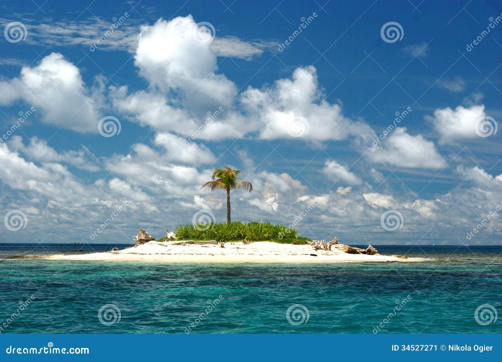 Deserted Tropical Island: Deserted Tropical Island Stock Image