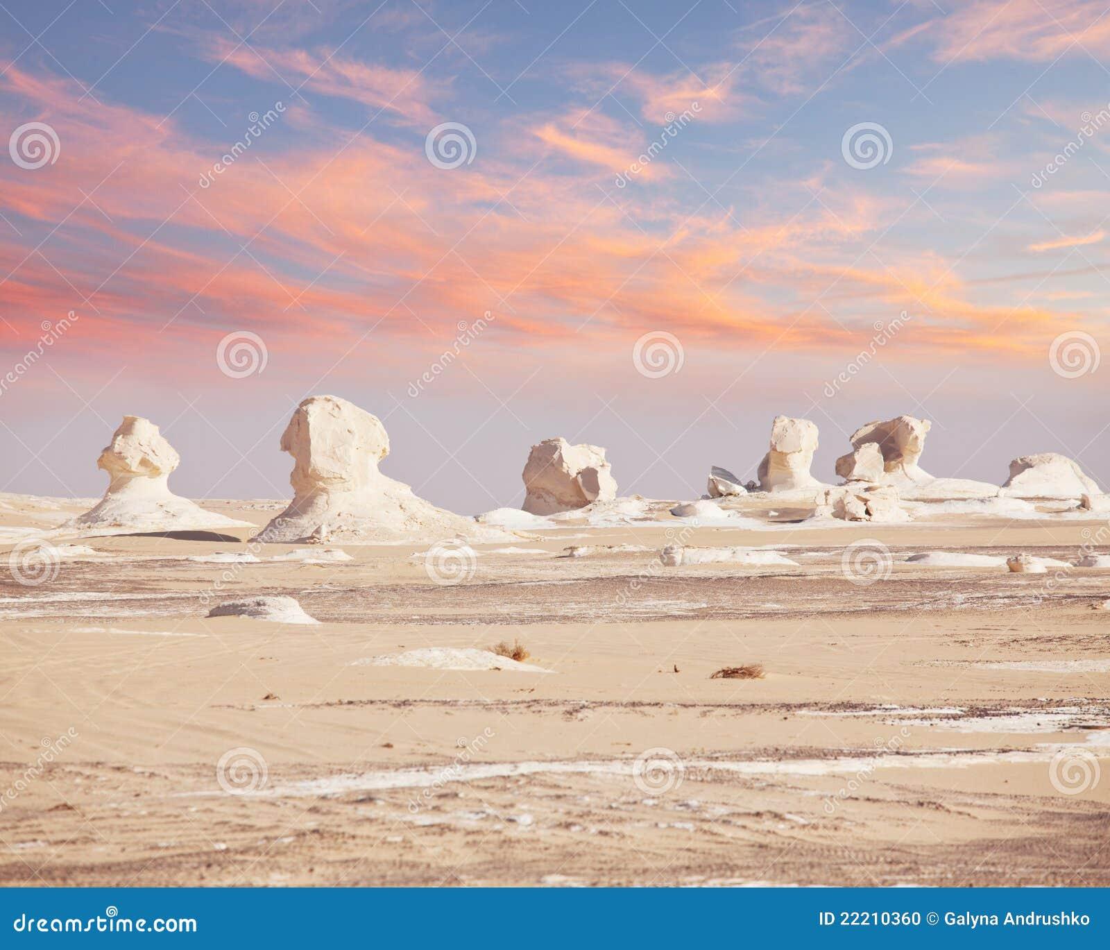 Deserto branco em Egipto