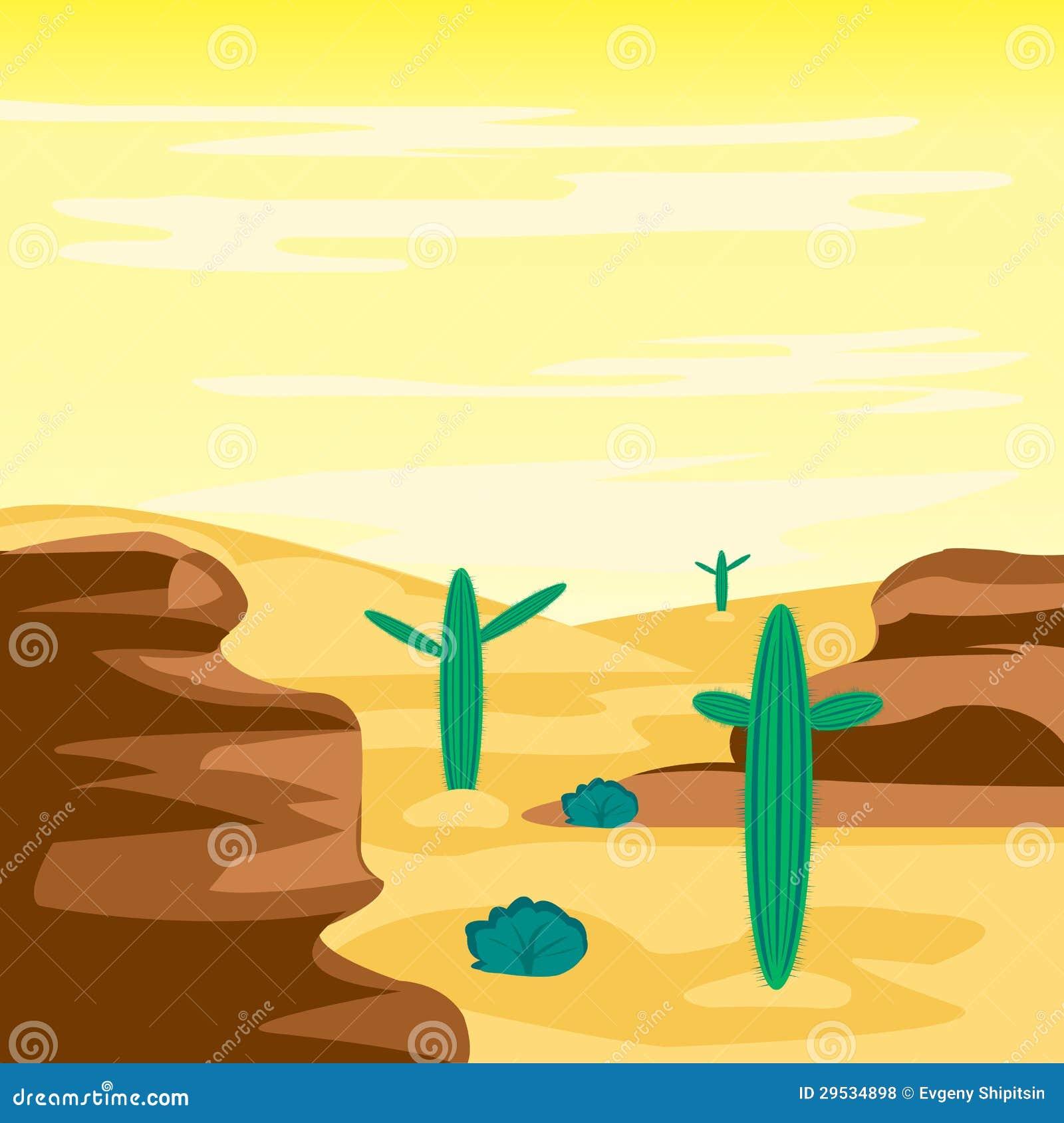 Deserto e cactos