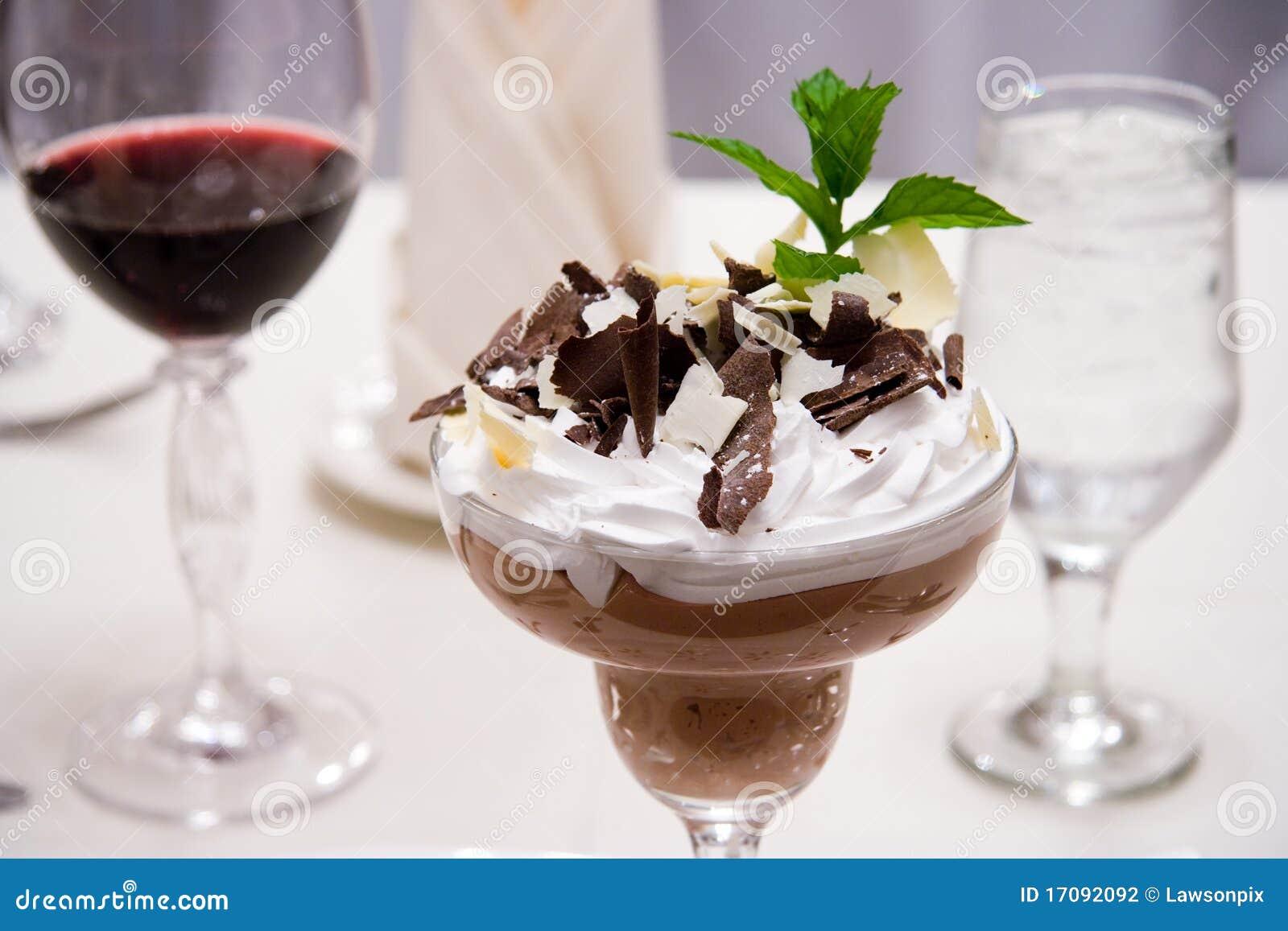 Deserto luxuoso do chocolate