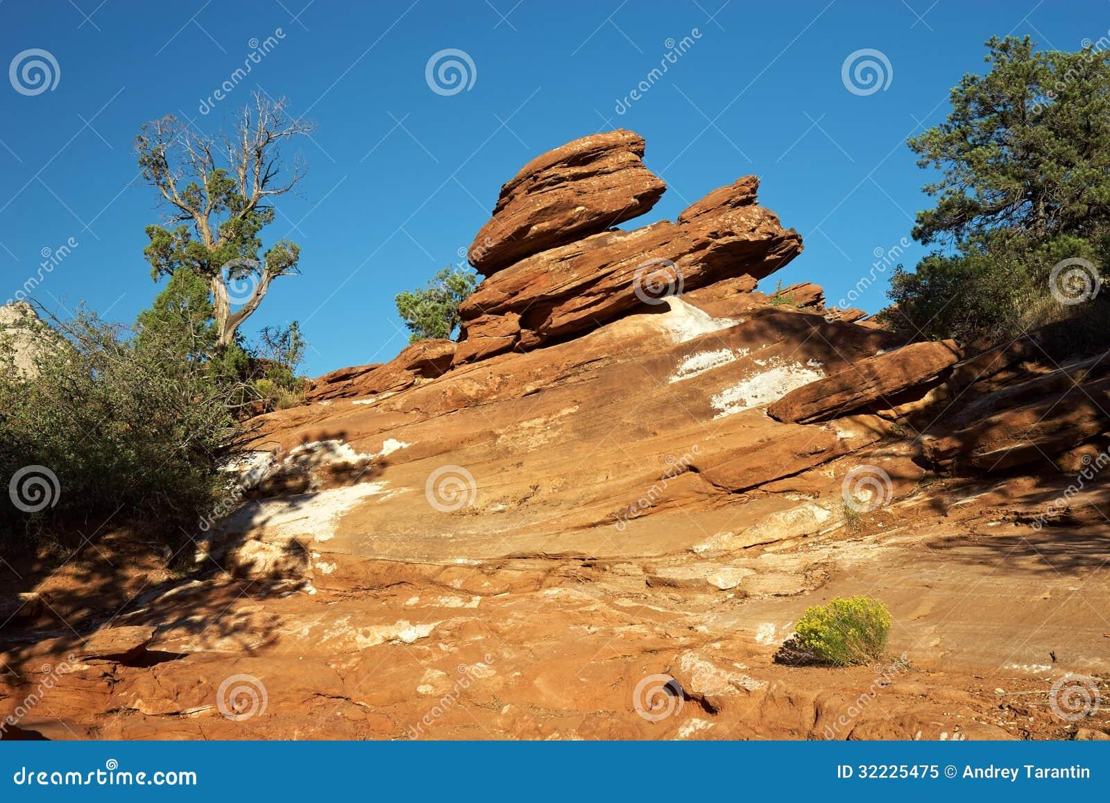 Download Deserto vermelho imagem de stock. Imagem de hiking, vermelho - 32225475