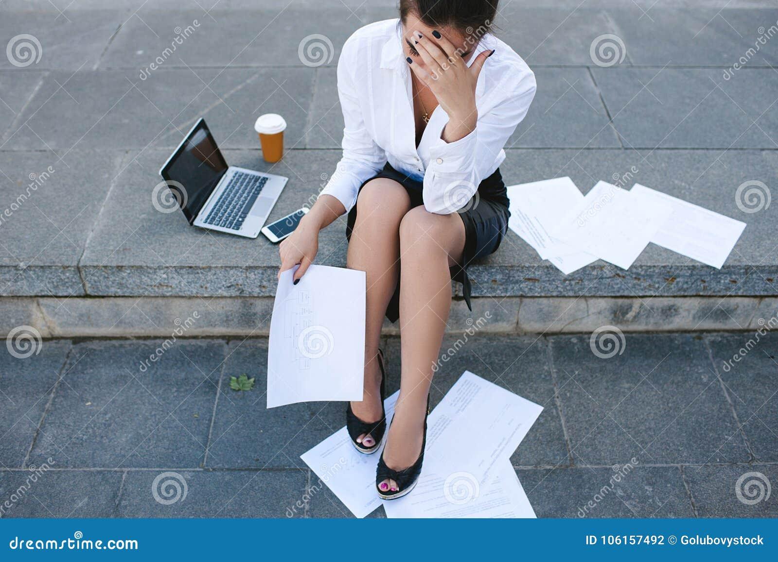Desespero da crise da falência da falha de negócio