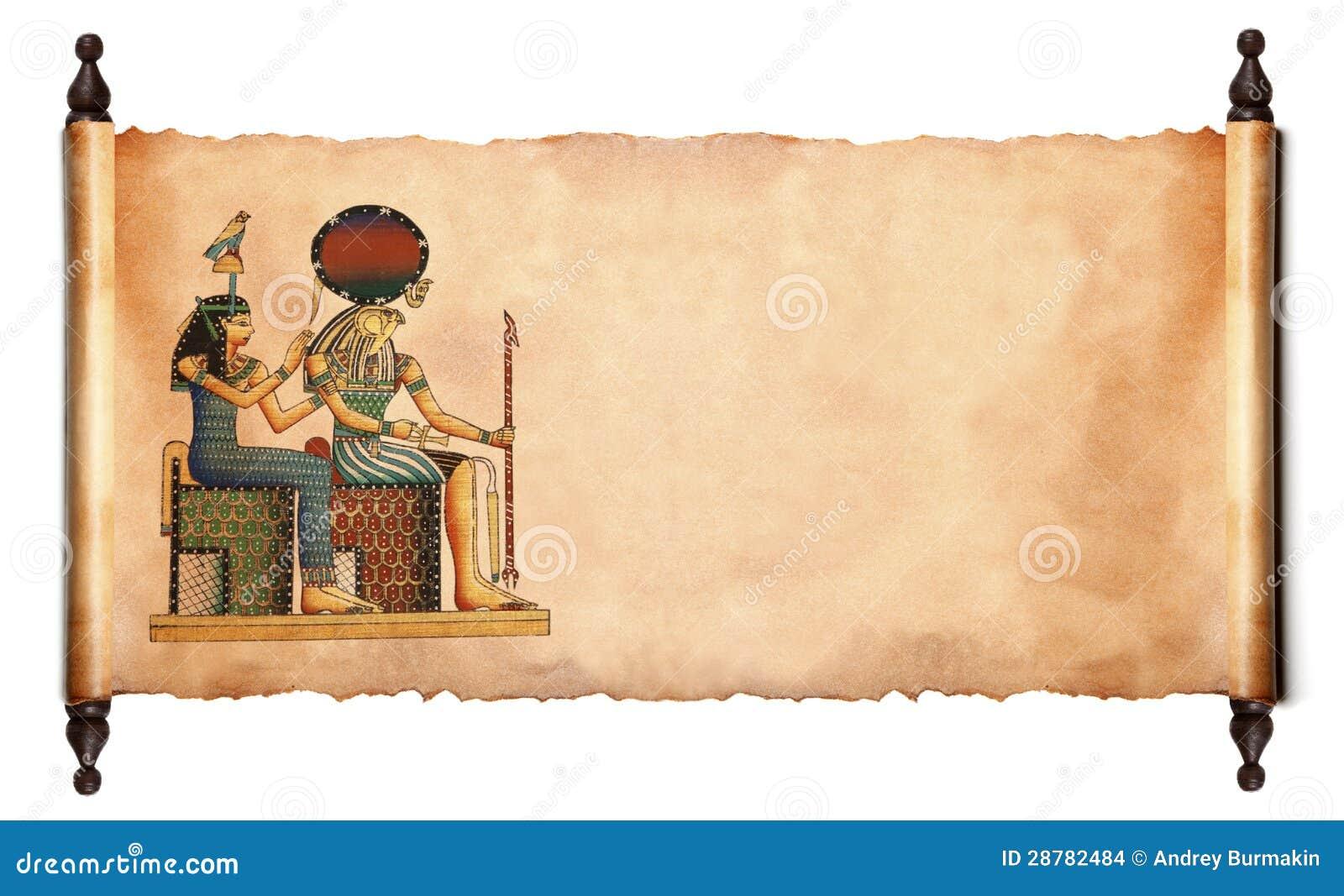 Desfile con el papiro egipcio