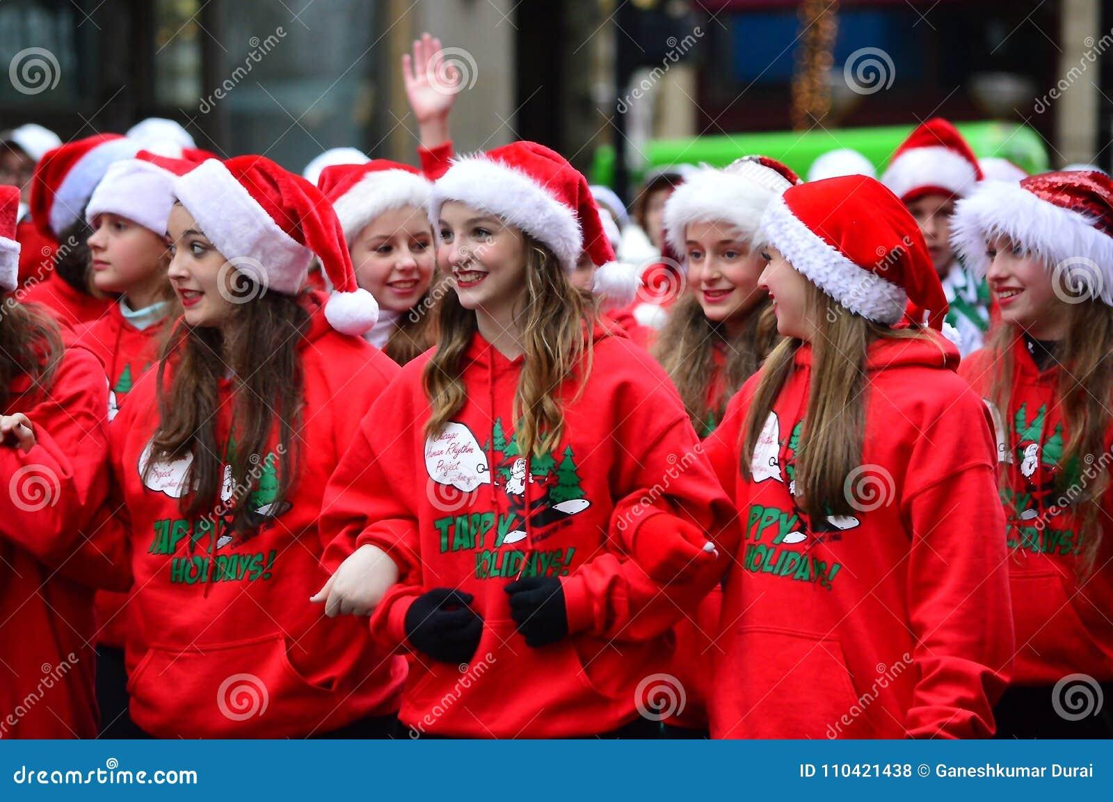 Desfile de la calle de la acción de gracias - una Navidad del país