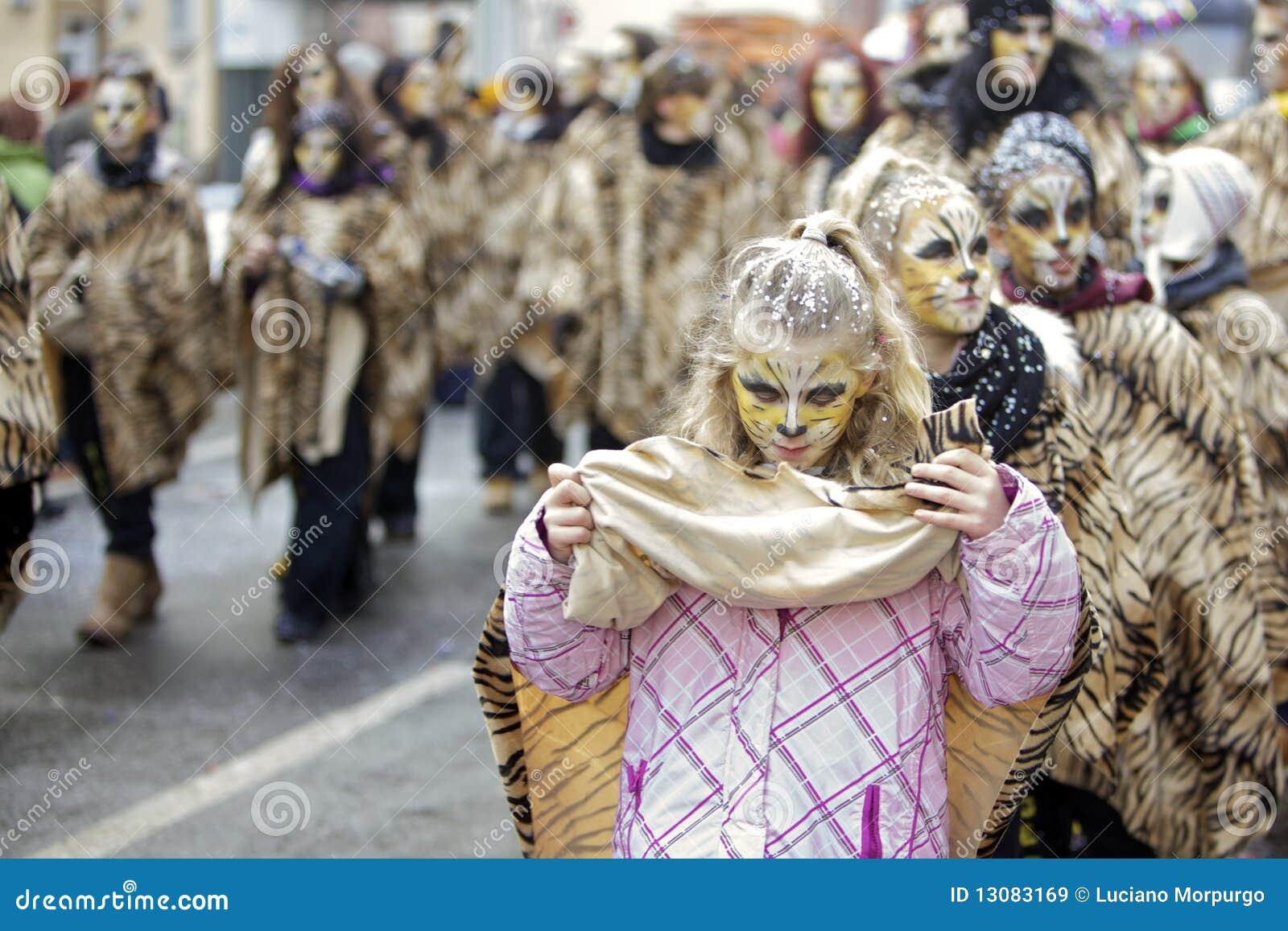Desfile de la calle del carnaval - Francfort, febrero de 2010