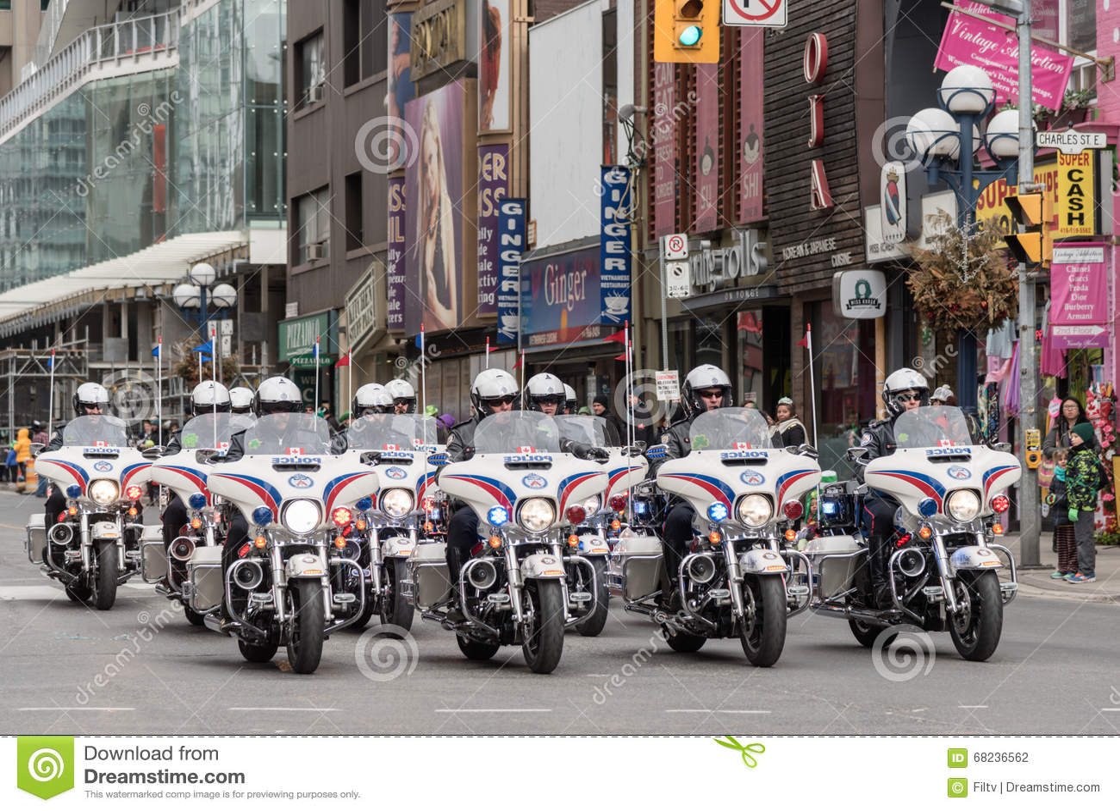 Desfile del día de St Patrick en Toronto