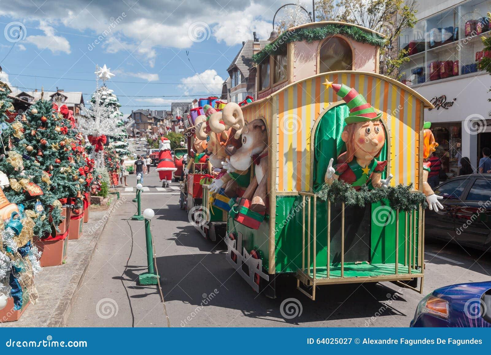 Fotos De Navidad En Brasil.Desfile Gramado El Brasil De La Navidad Fotografia Editorial