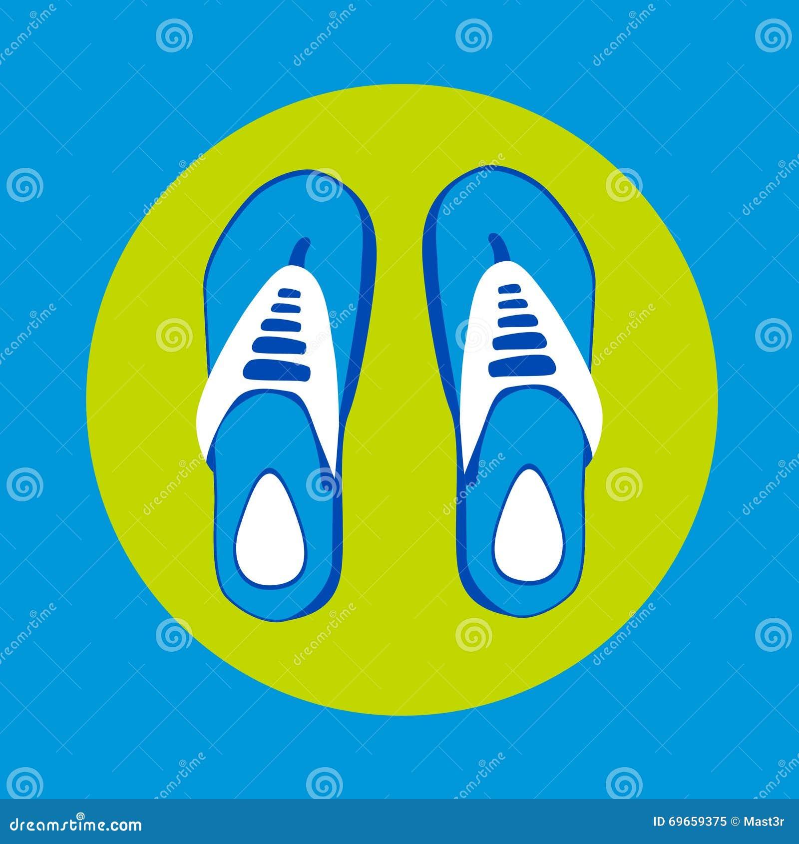 Desgaste del pie de Flip Flops Icon Summer Slippers