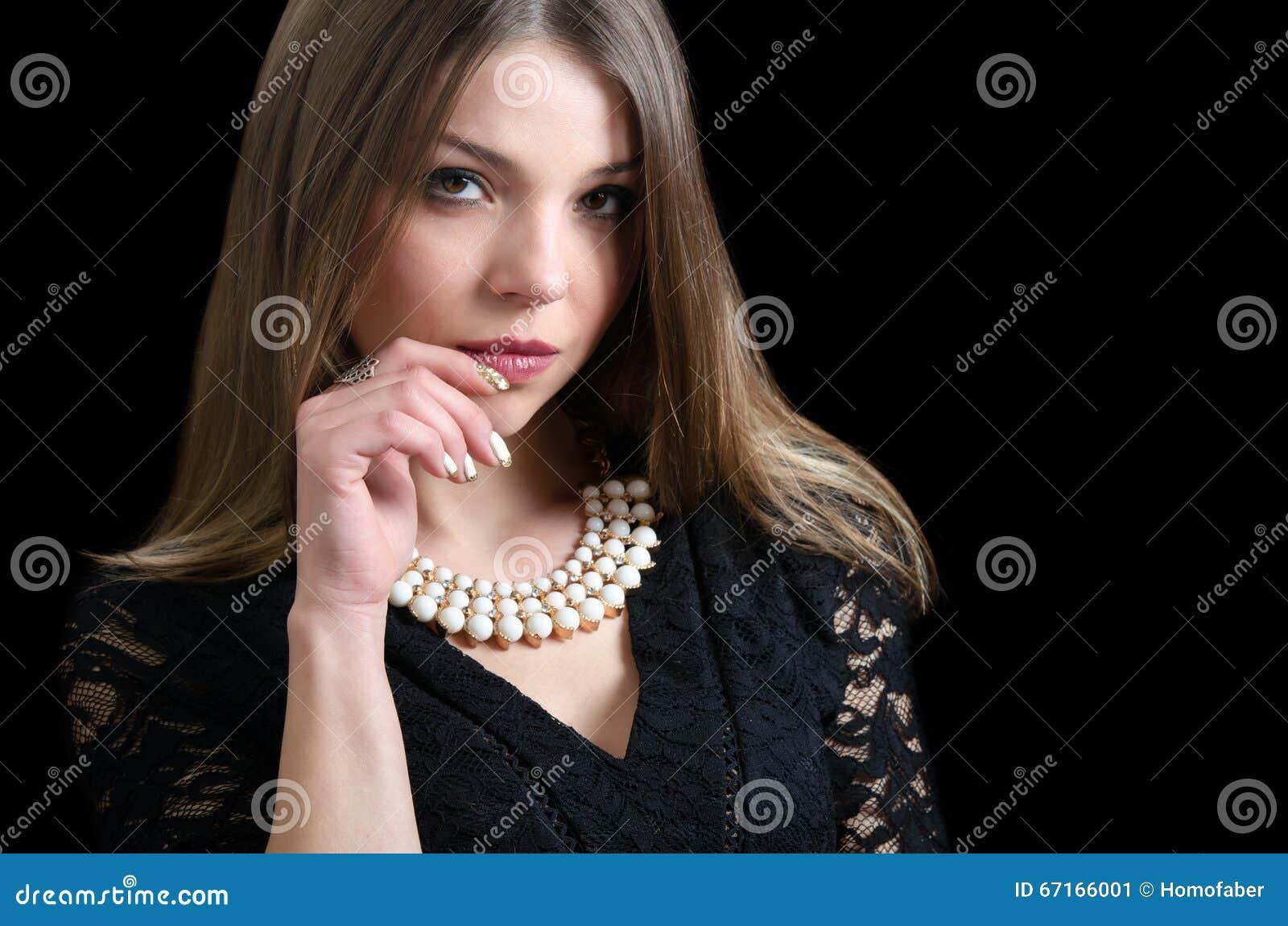 Desgaste dulce de la señora un collar de lujo