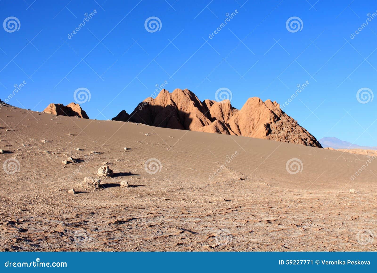 Desierto de Atacama durante puesta del sol