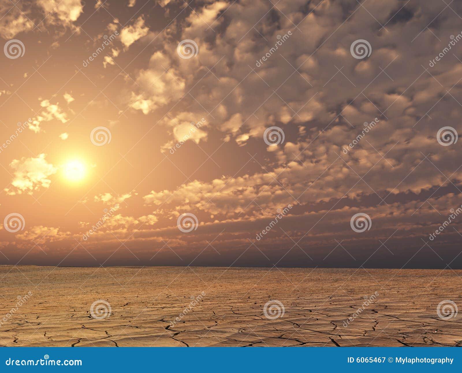 Desierto de la puesta del sol