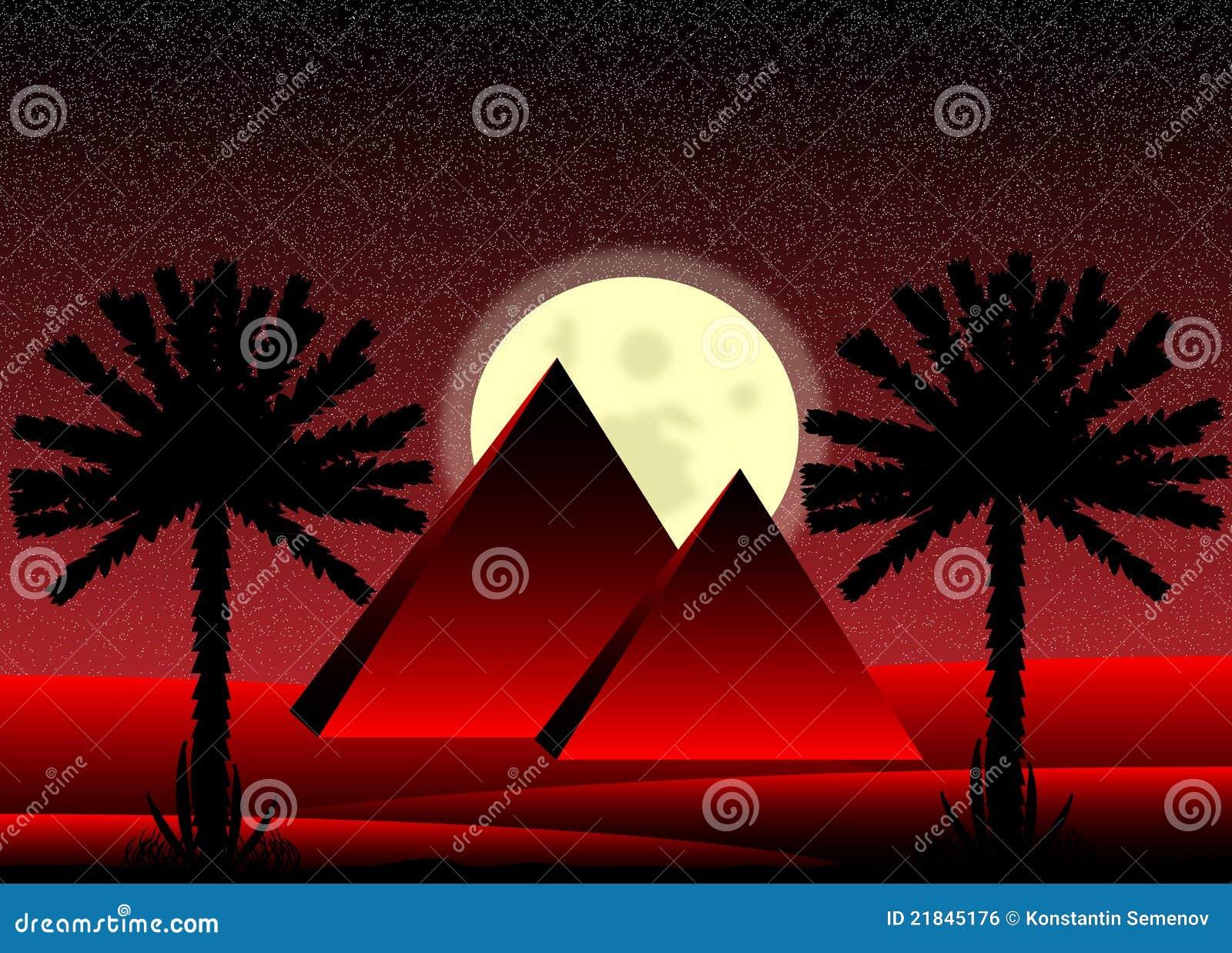 Desierto de Sáhara en la noche