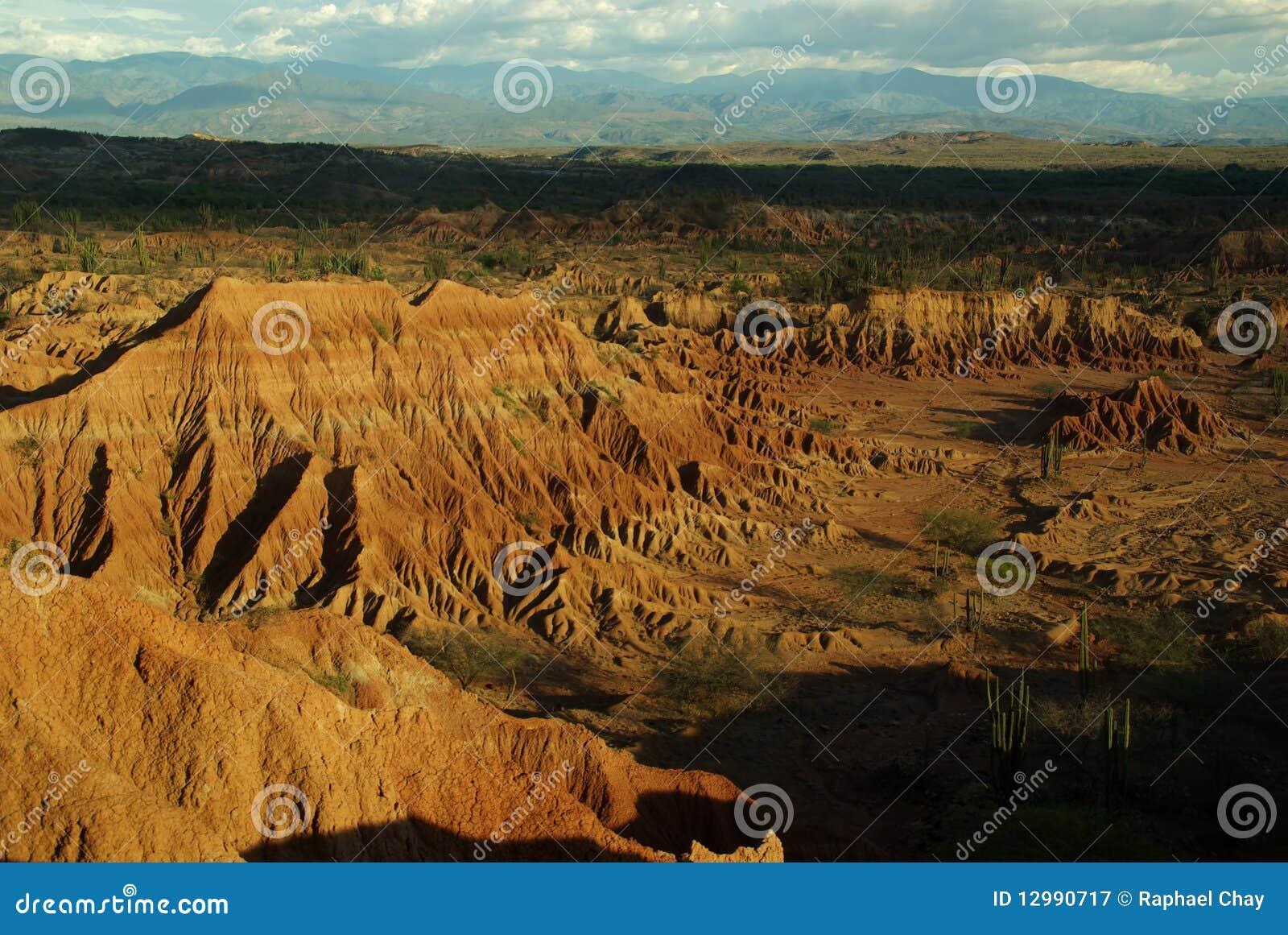 Desierto de Tatacoa cerca de Neiva en Colombia