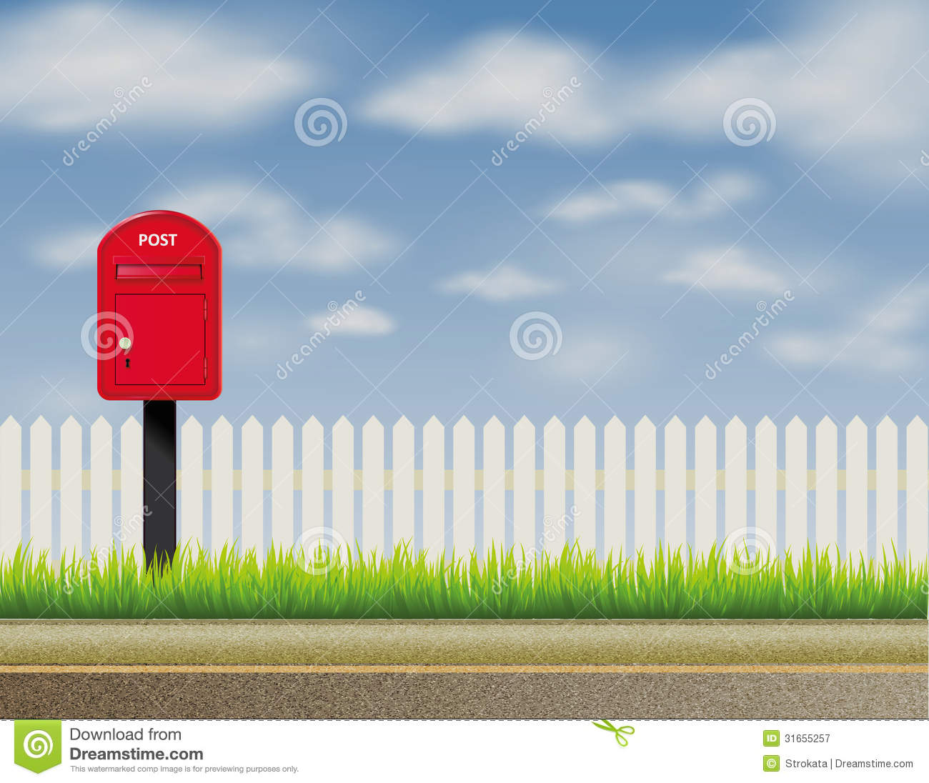Design Of Abstract English Uk Letter Box Mailbox Royalty