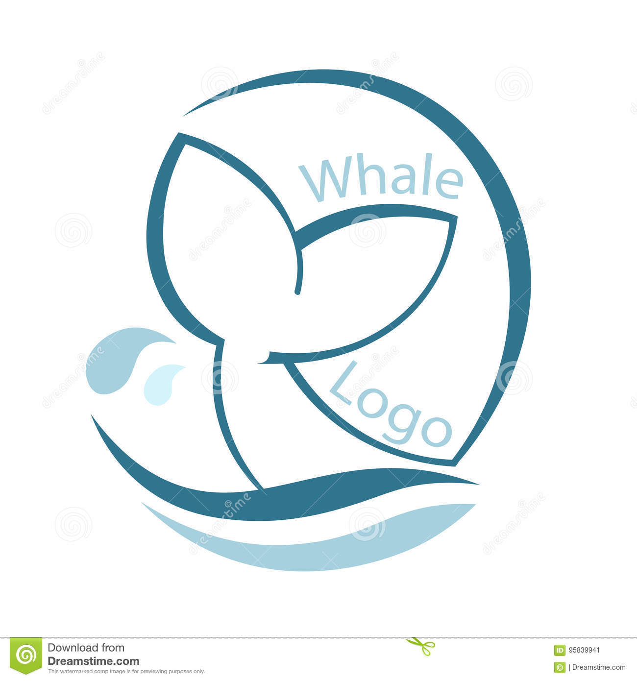 Design with abstract symbol of whale and sea wave vector design with abstract symbol of whale and sea wave vector illustration biocorpaavc Choice Image