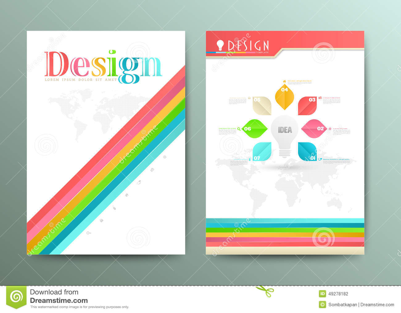 design abstract vector brochure template flyer layout stock vector