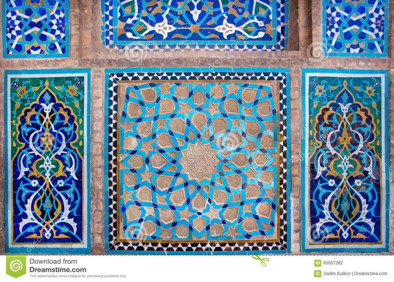 Design of antique ceramic tile inside the historic house in iran royalty free stock photo doublecrazyfo Image collections