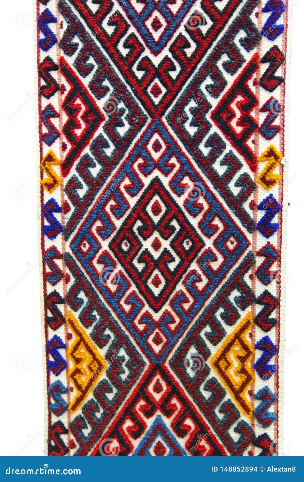 Design art pattern carpet Kazakhstan nomad