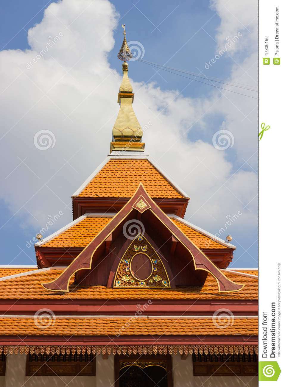Design Of Asian Temple Roof Stock Photo Image Of Place