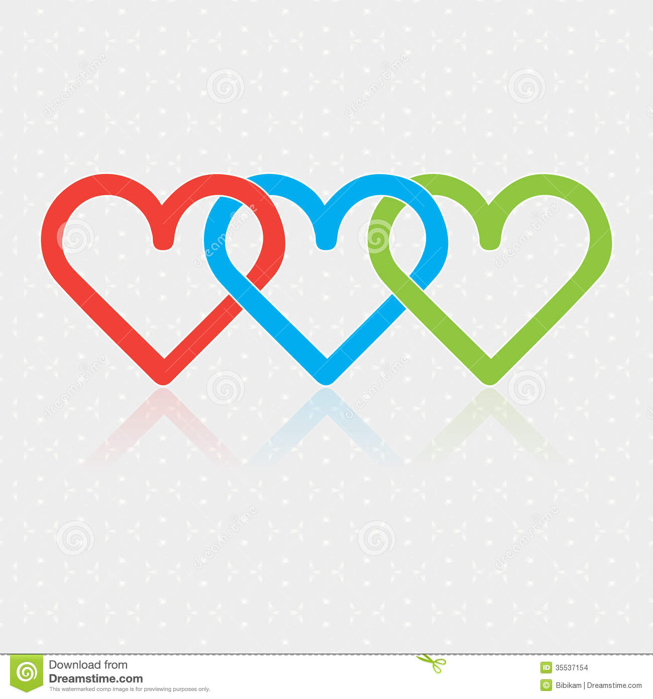 3 Hearts Together Wwwgalleryhipcom The Hippest Pics