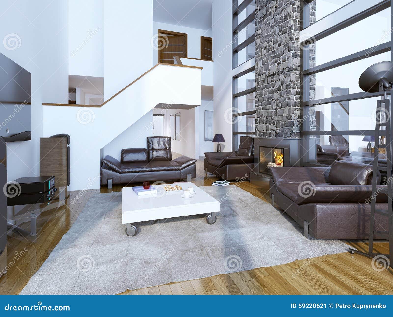 Design av hemtrevlig modern vardagsrum arkivfoto   bild: 59220621