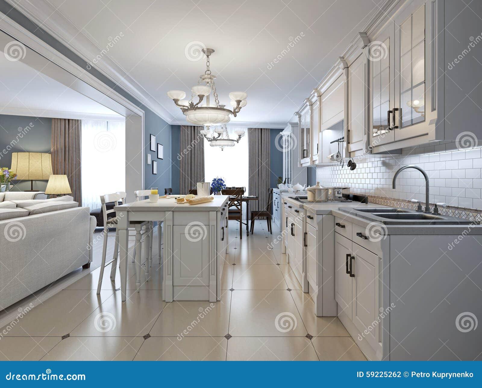 Design av kök i medelhavs  stil arkivfoto   bild: 59225262