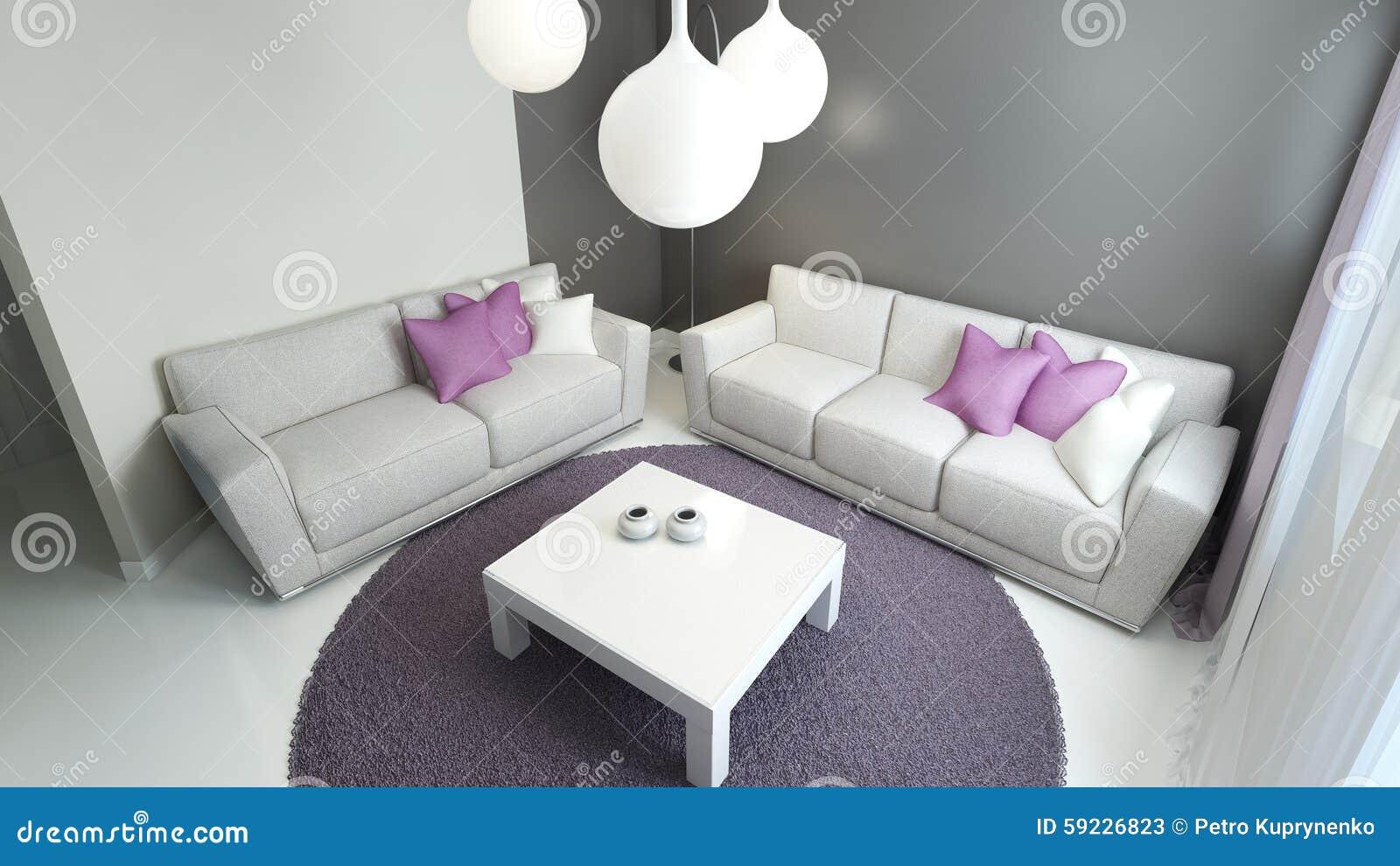 Design av modern vardagsrum stock illustrationer   bild: 59226823