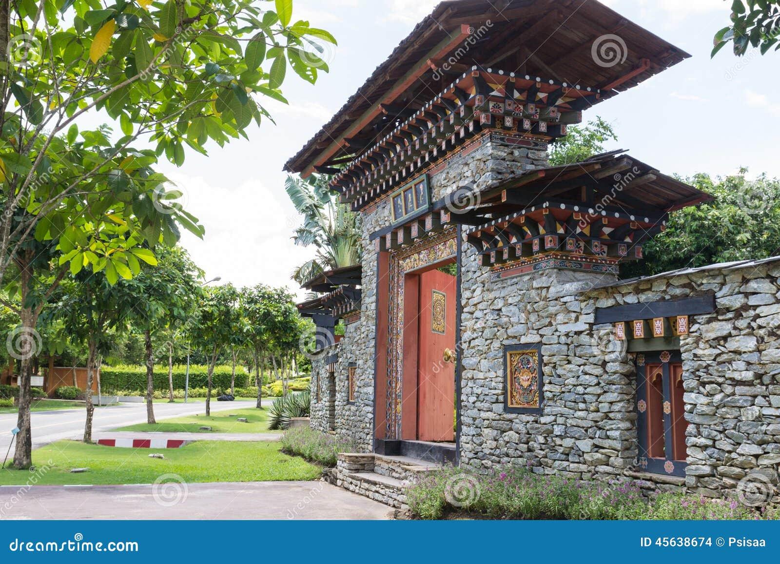 The design of bhutan gateway stock photo image 45638674 for Garden gateway