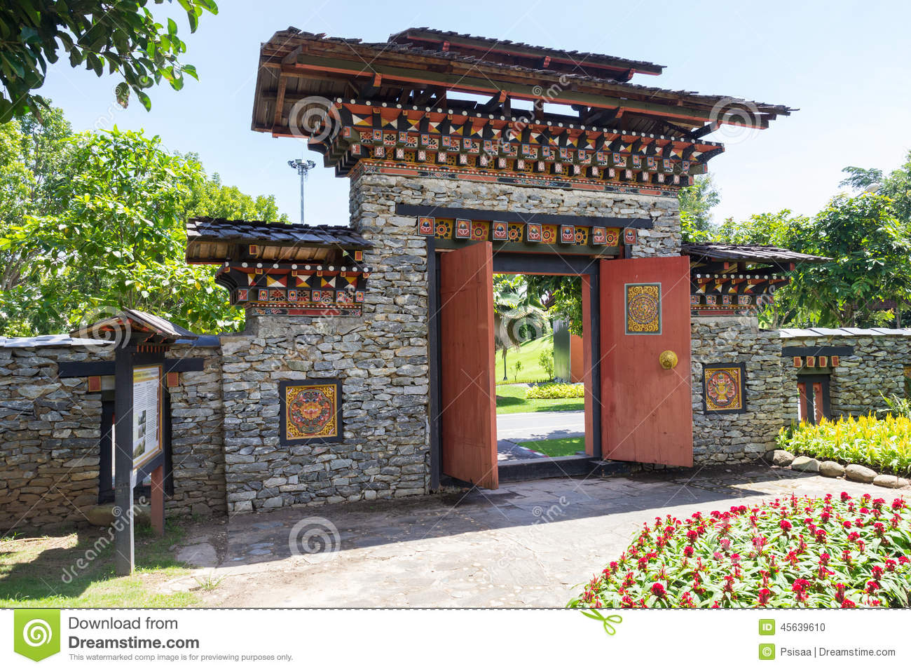 The design of bhutan gateway stock photo image of for Garden gateway