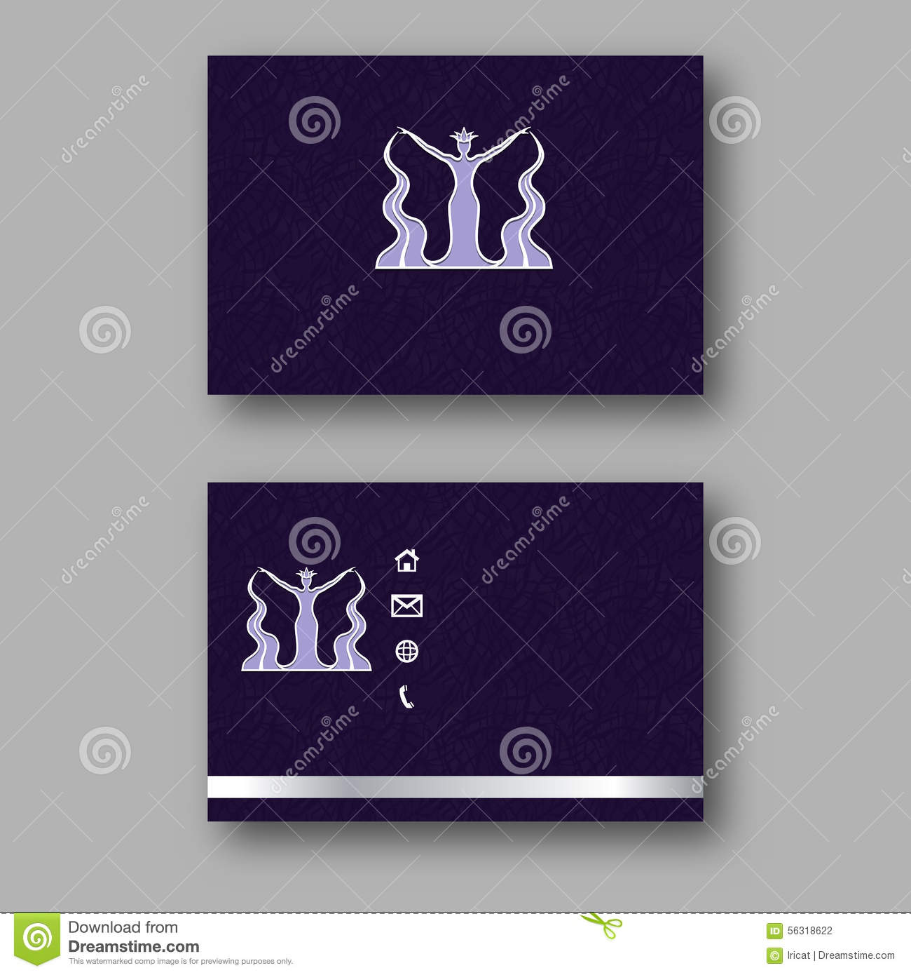 Design Business Card With Logo Of The Goddess Of Water. Calling ...