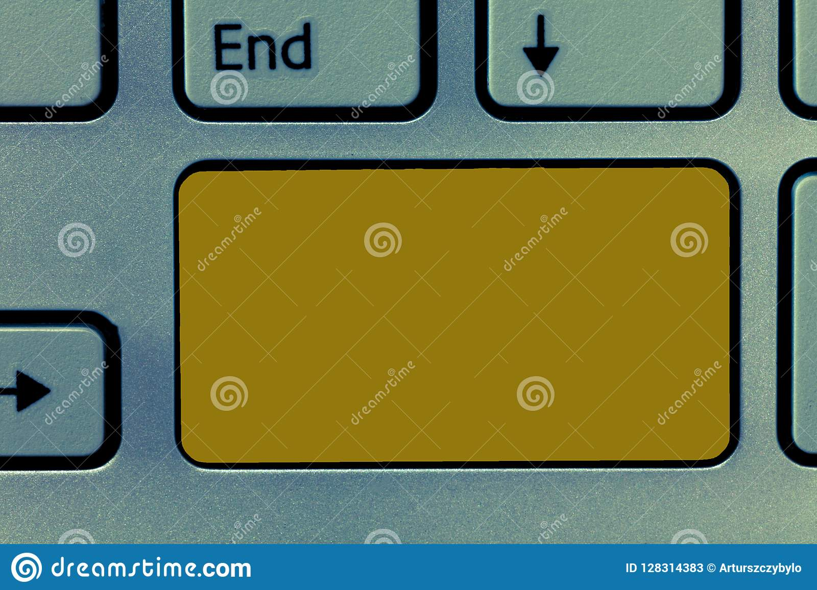 Design business concept Empty copy space modern abstract background Keyboard key Intention to create computer message