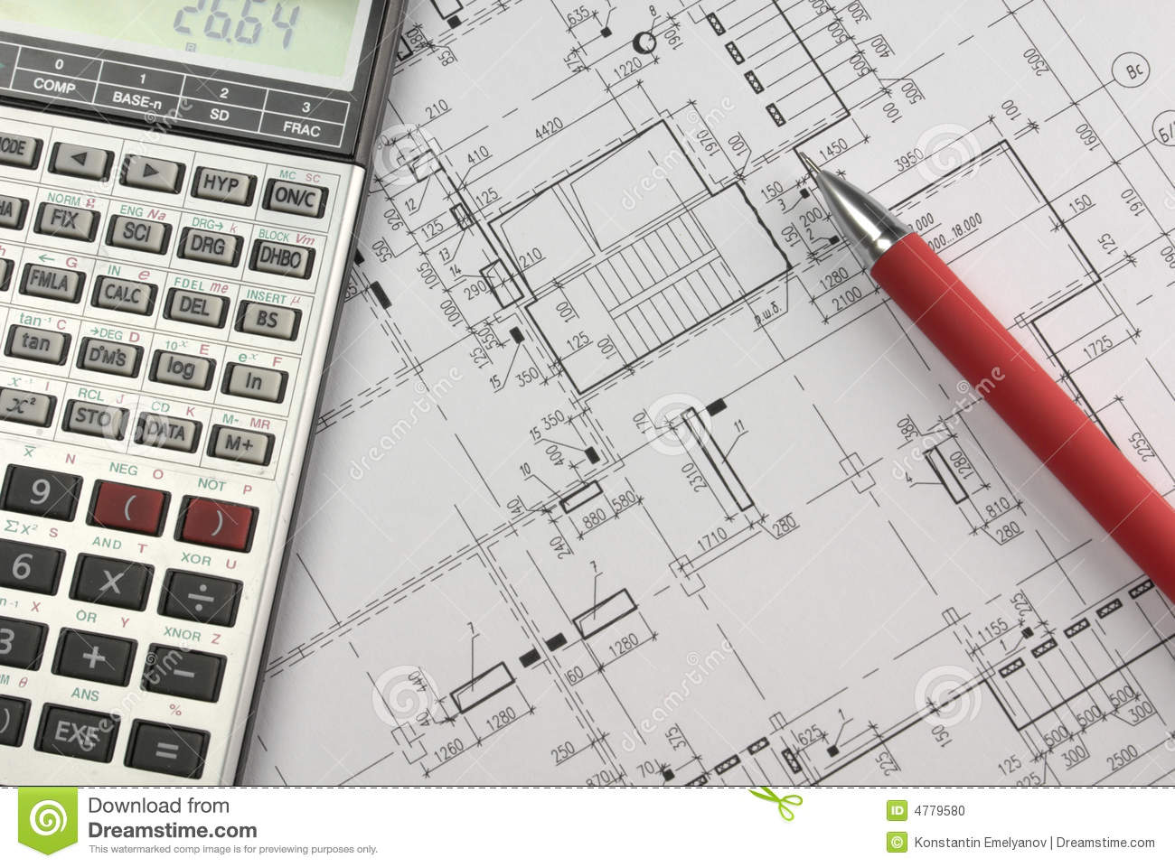 Design Calculations Stock Photo Image 4779580