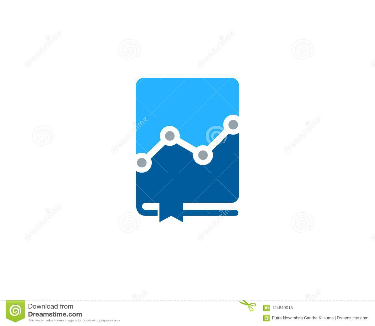 Digital Book Logo Icon Design Stock Vector Illustration Of