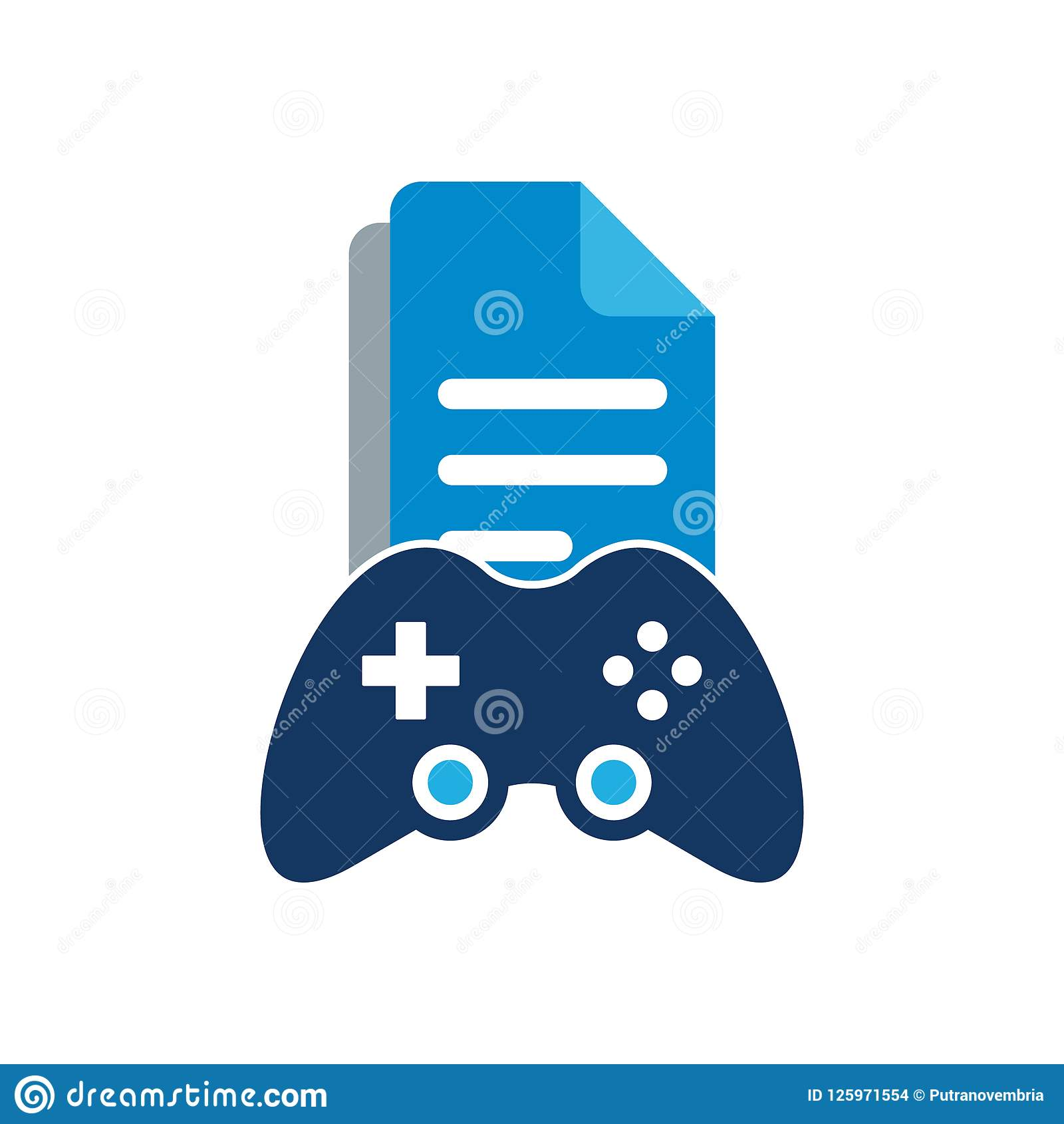 Document Game Logo Icon Design Stock Vector Illustration Of - Game design document download