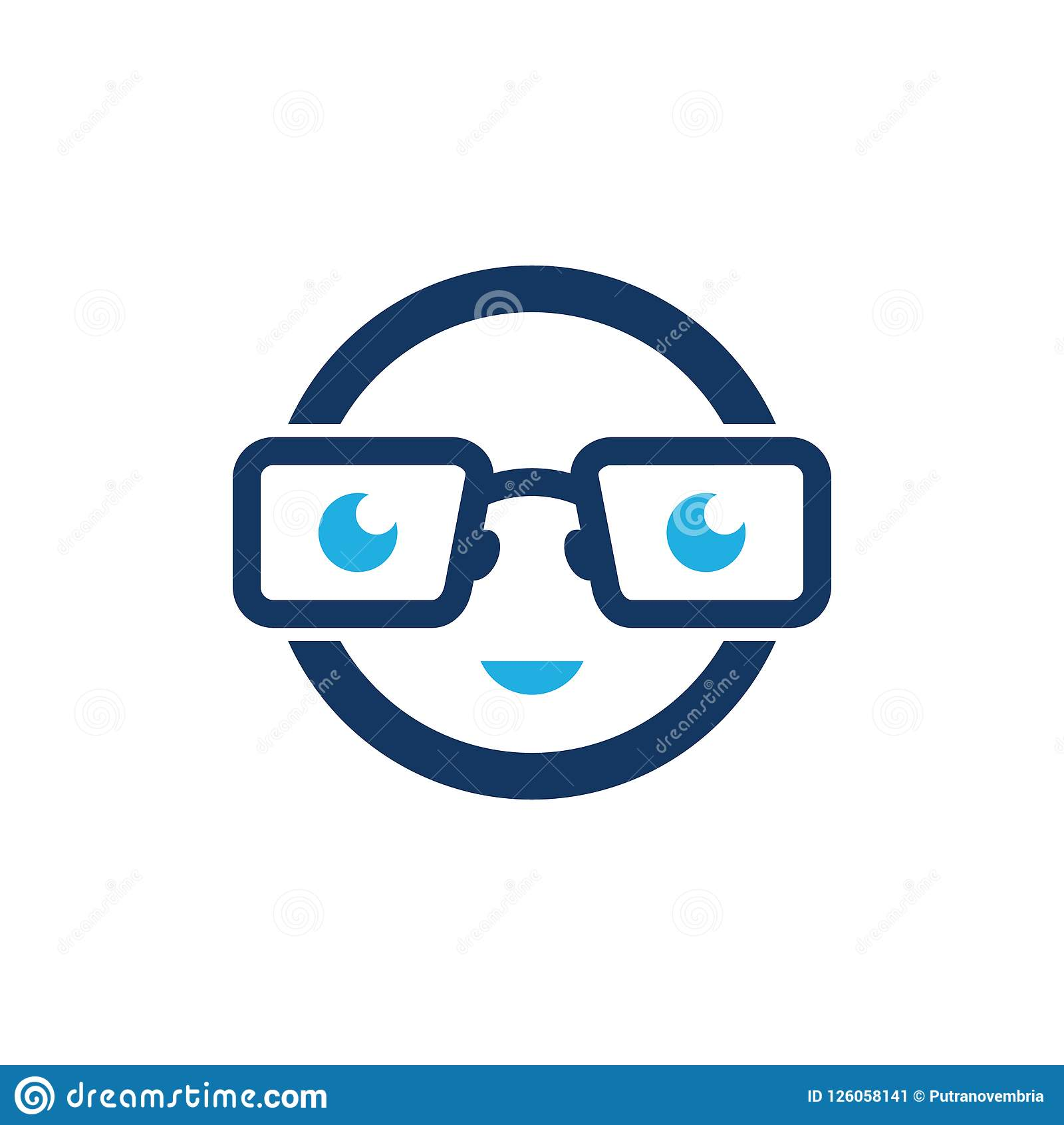 Face Geek Logo Icon Design stock vector  Illustration of