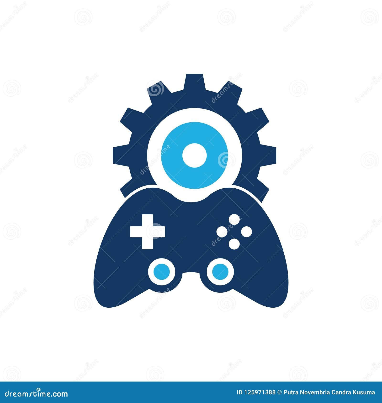 Gear Game Logo Icon Design stock vector  Illustration of