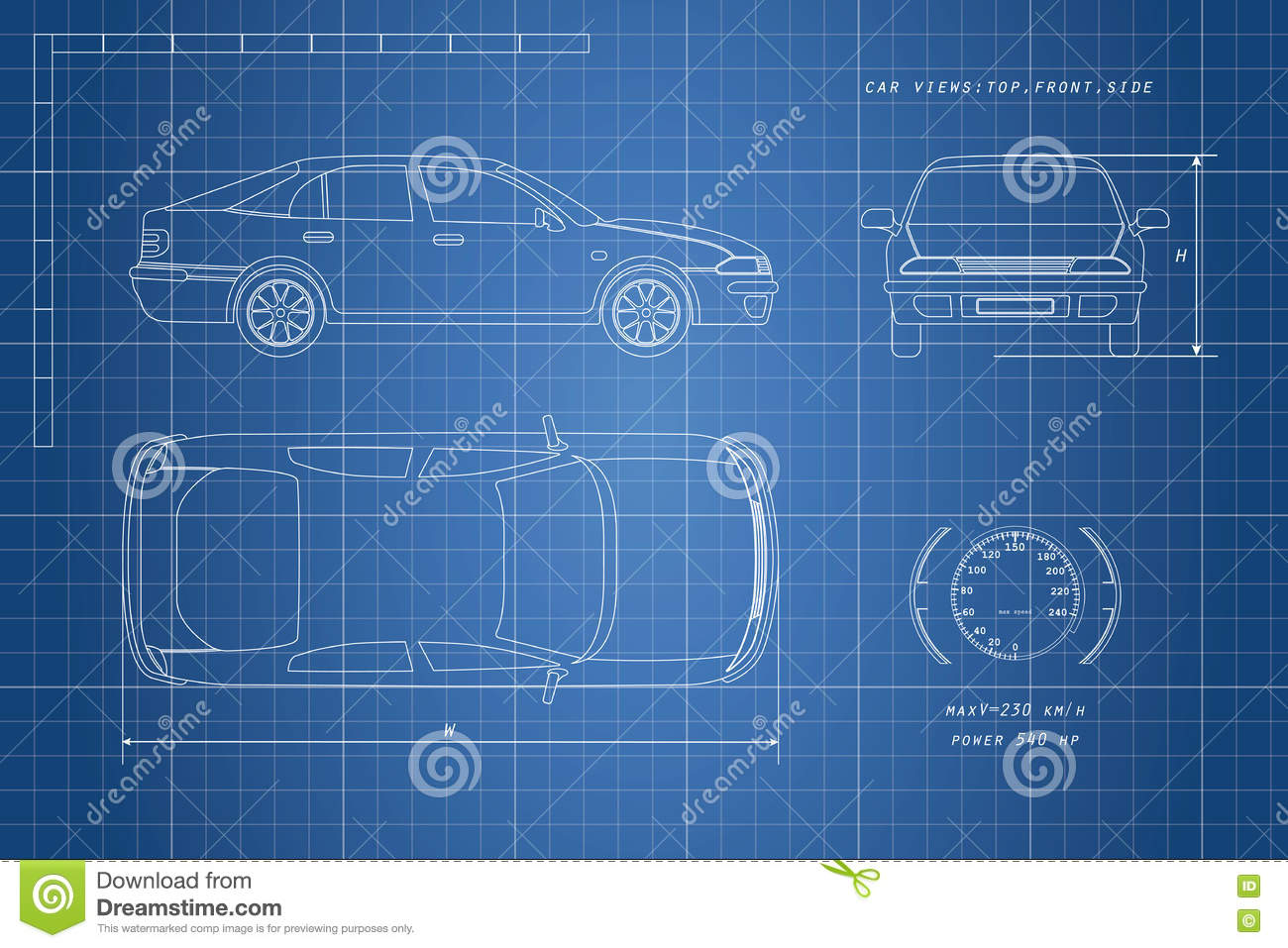 The design of the car drawing on a blue background three types the design of the car drawing on a blue background three types malvernweather Gallery