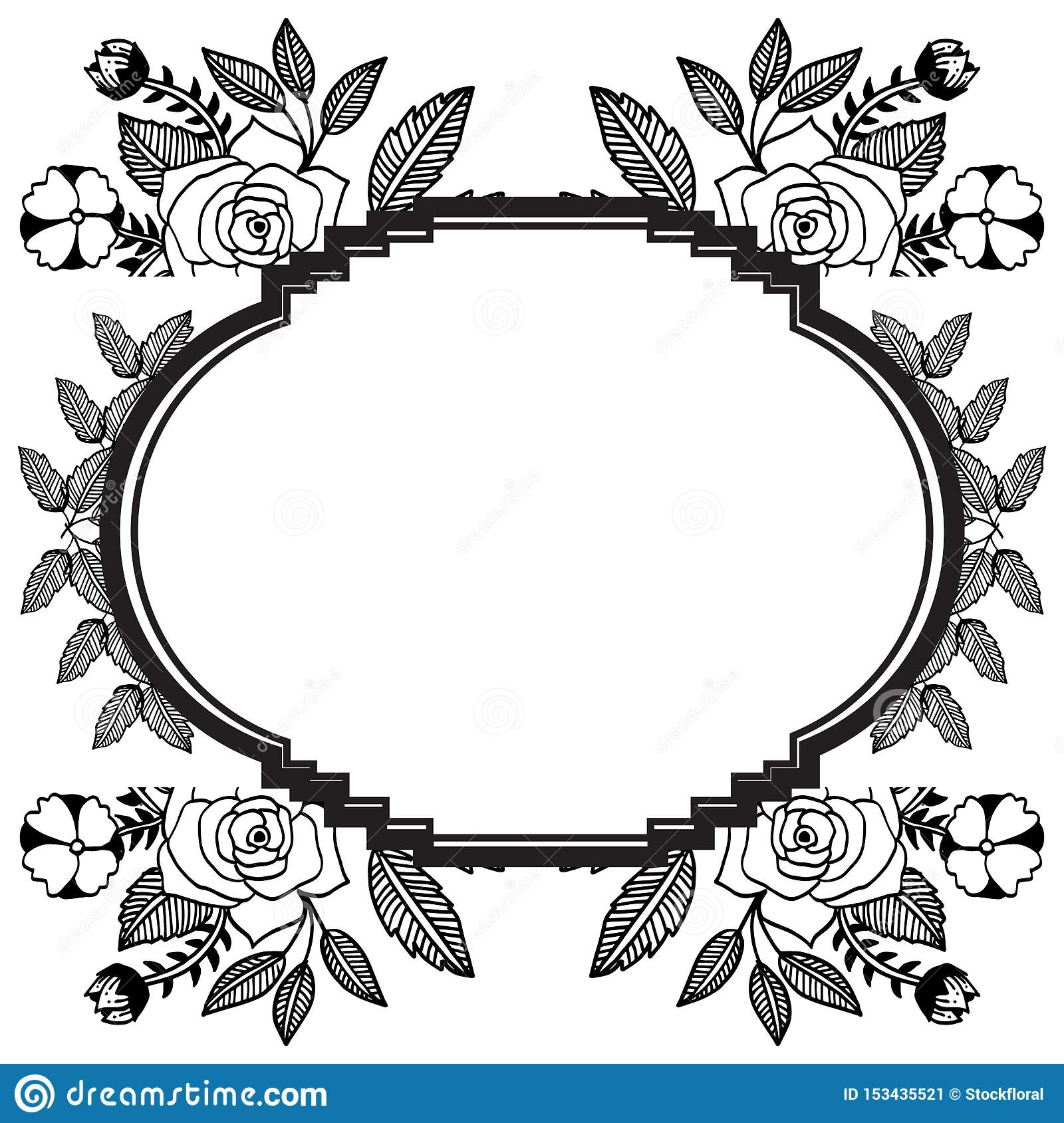 design for cards feature border of floral and leaf