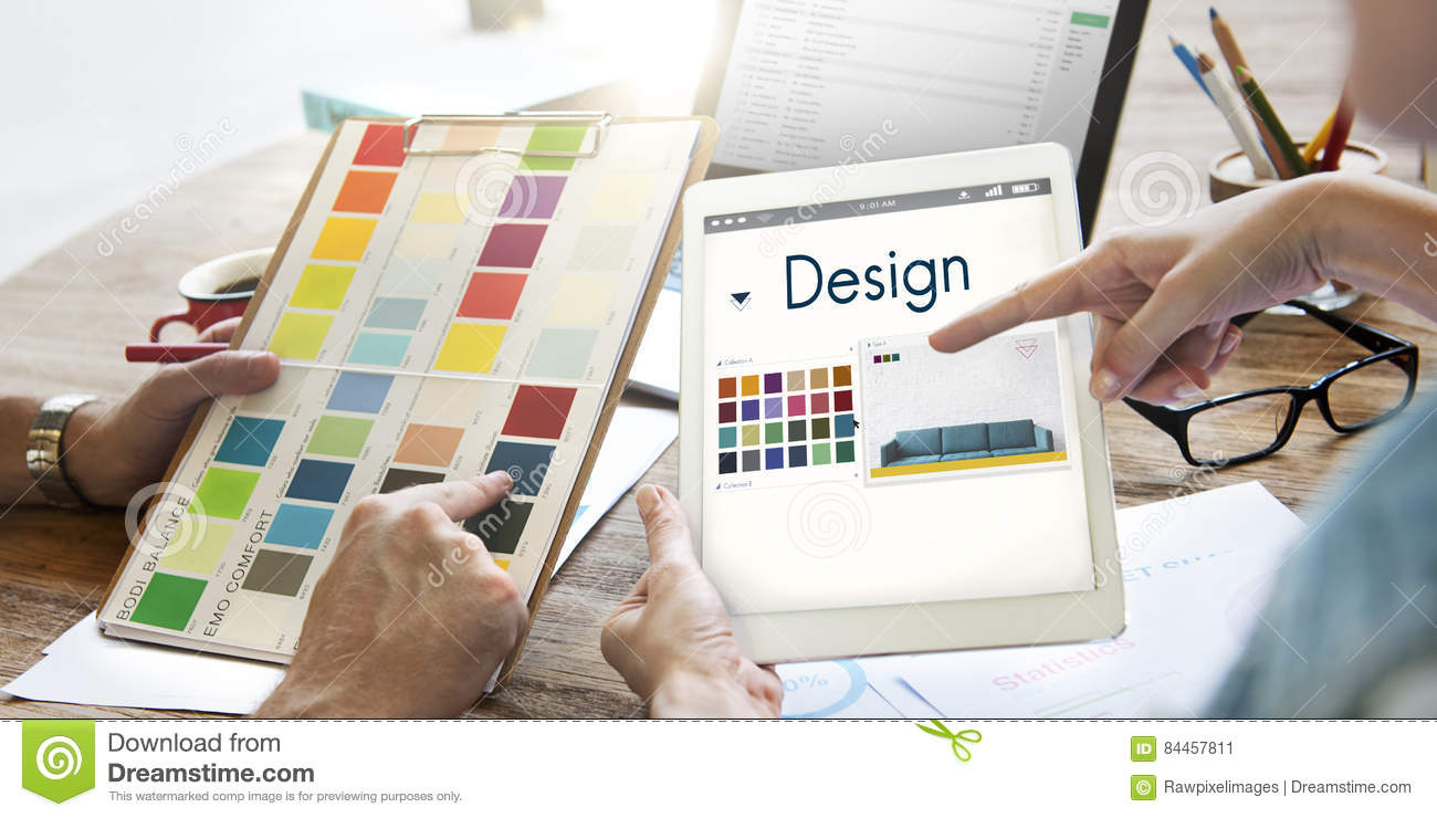 Design Choose Color Palette Graphic Concept