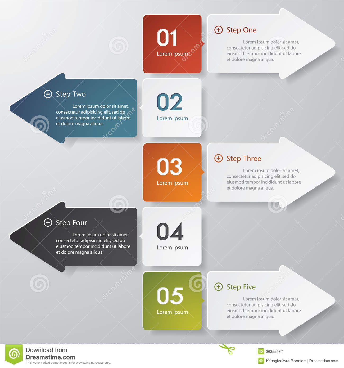 Design clean number banners templategraphic or website layout Vector QJ0GddNJ
