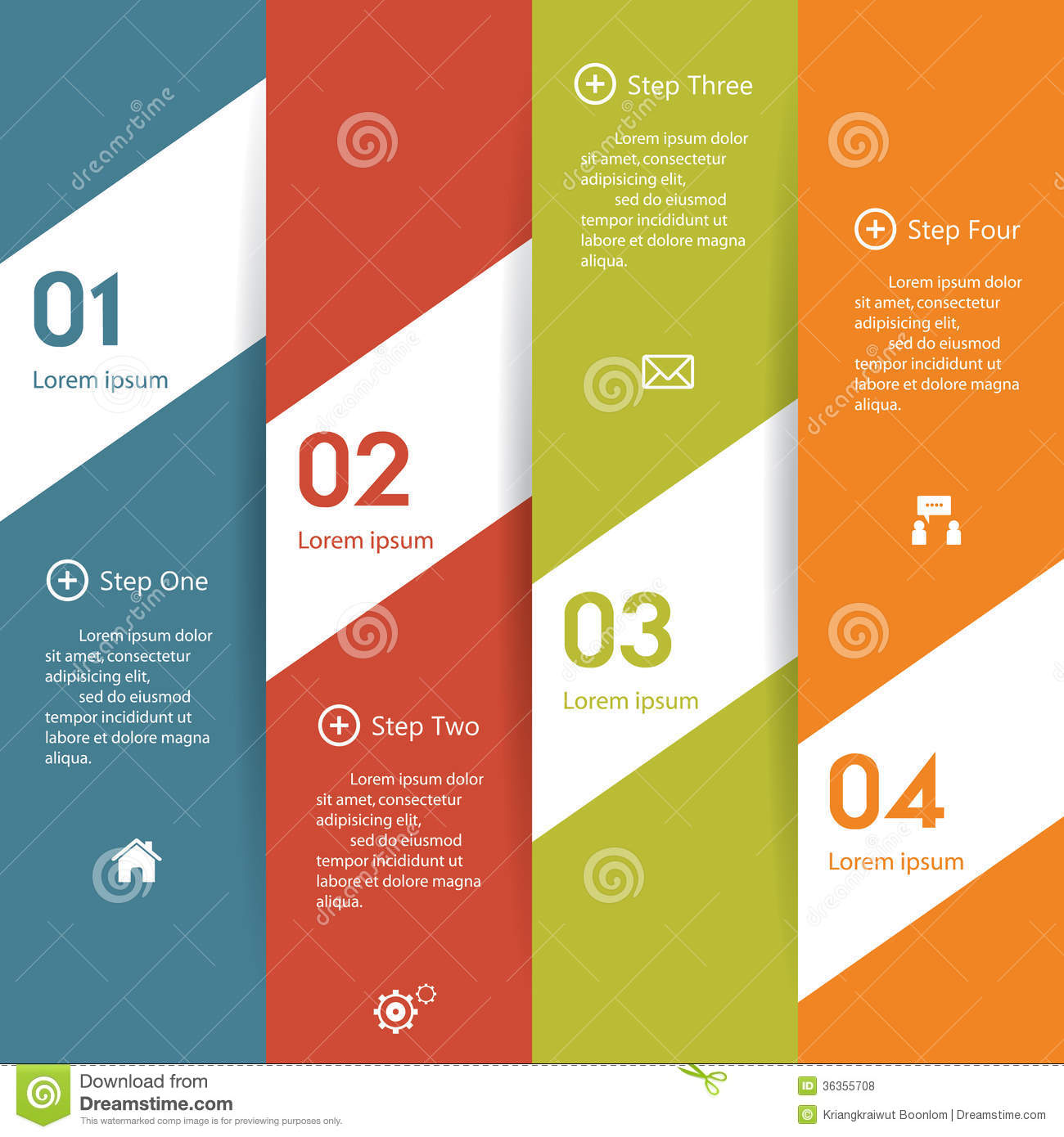 Design clean number banners templategraphic or website layout Vector y1ziVqOv