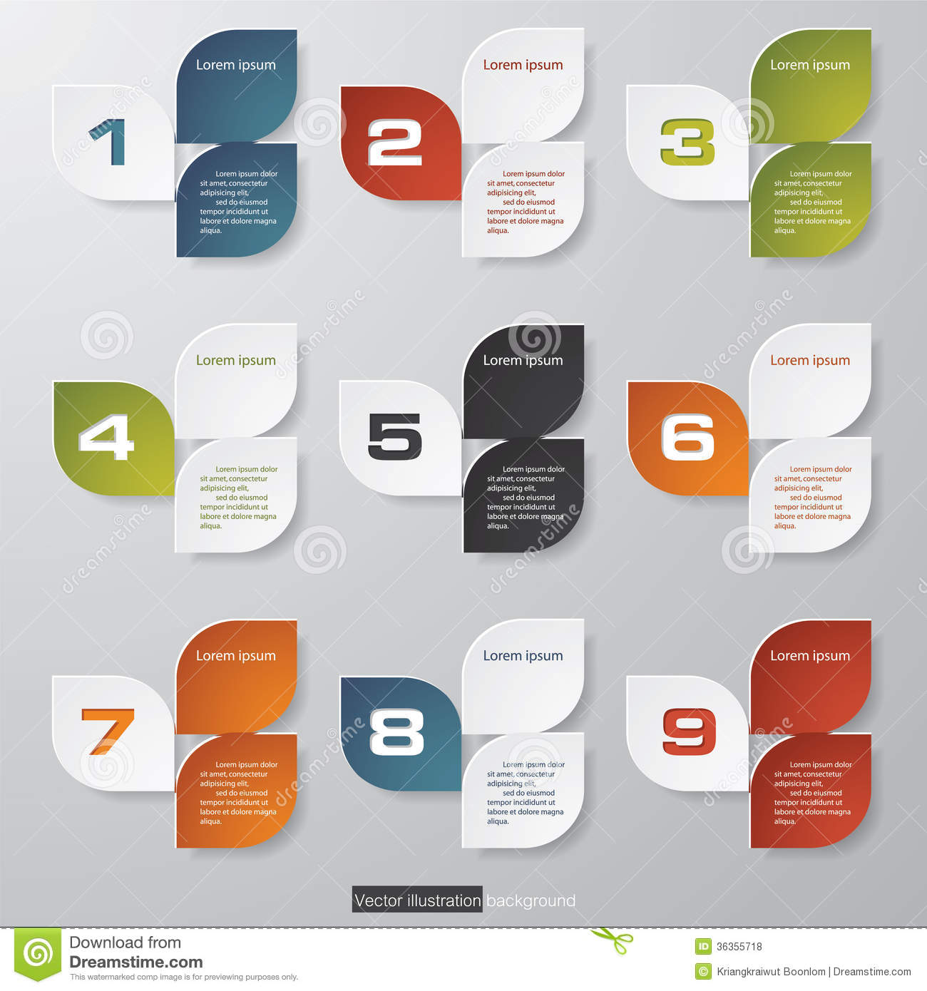 Design Clean Number Banners Template Royalty Free Stock