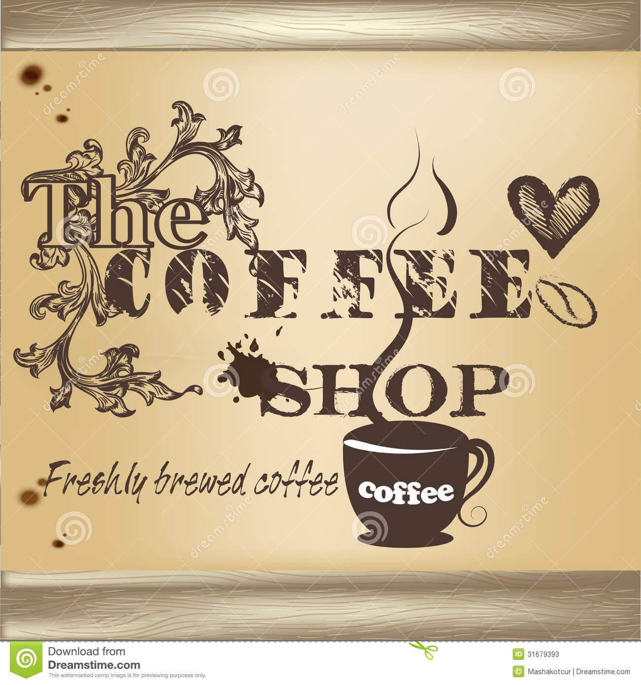 Design Of Coffee Shop Poster Stock Vector - Illustration of artistic ...