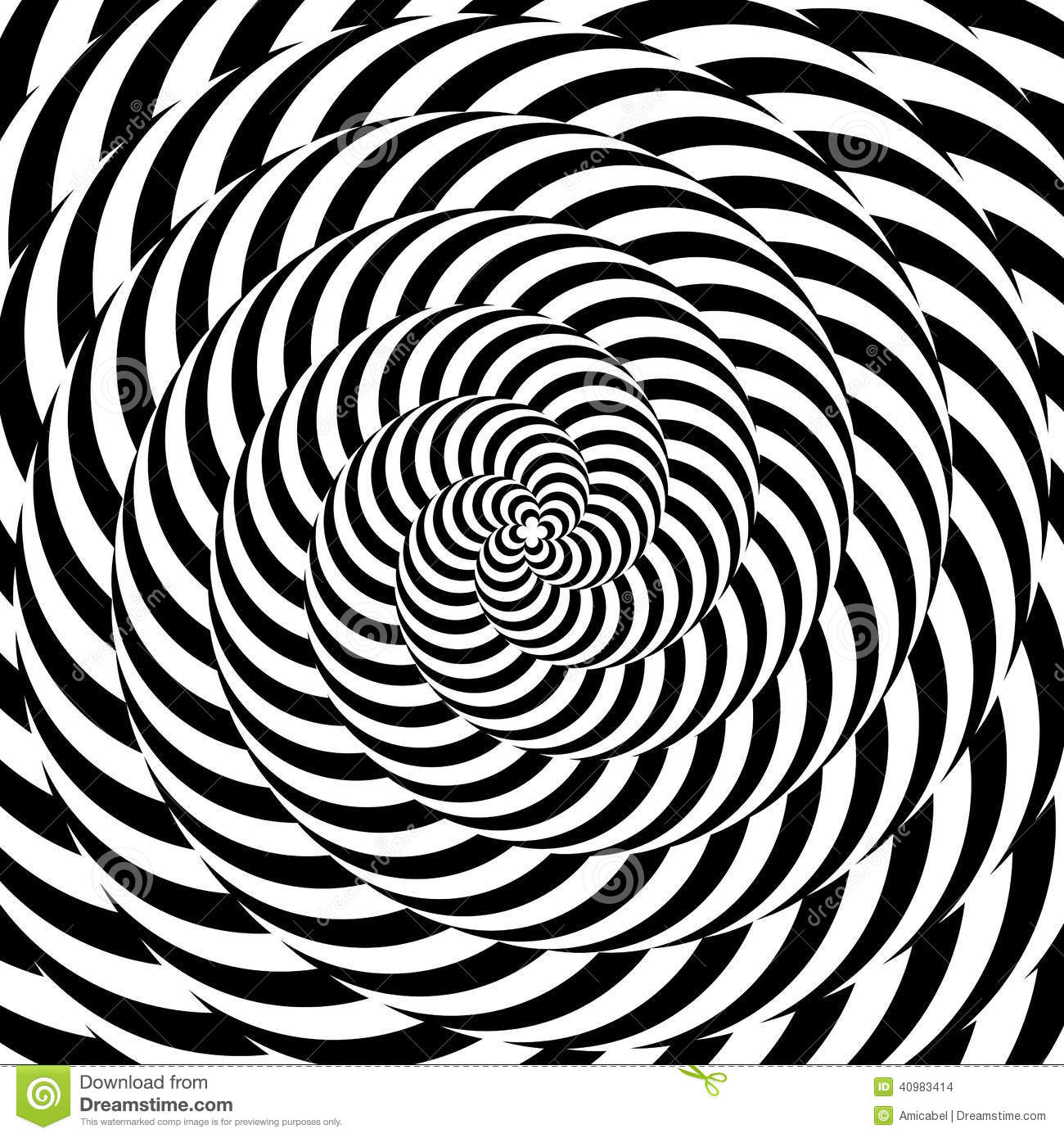 Line Drawing Illusion : Design colorful whirlpool circular illusion background