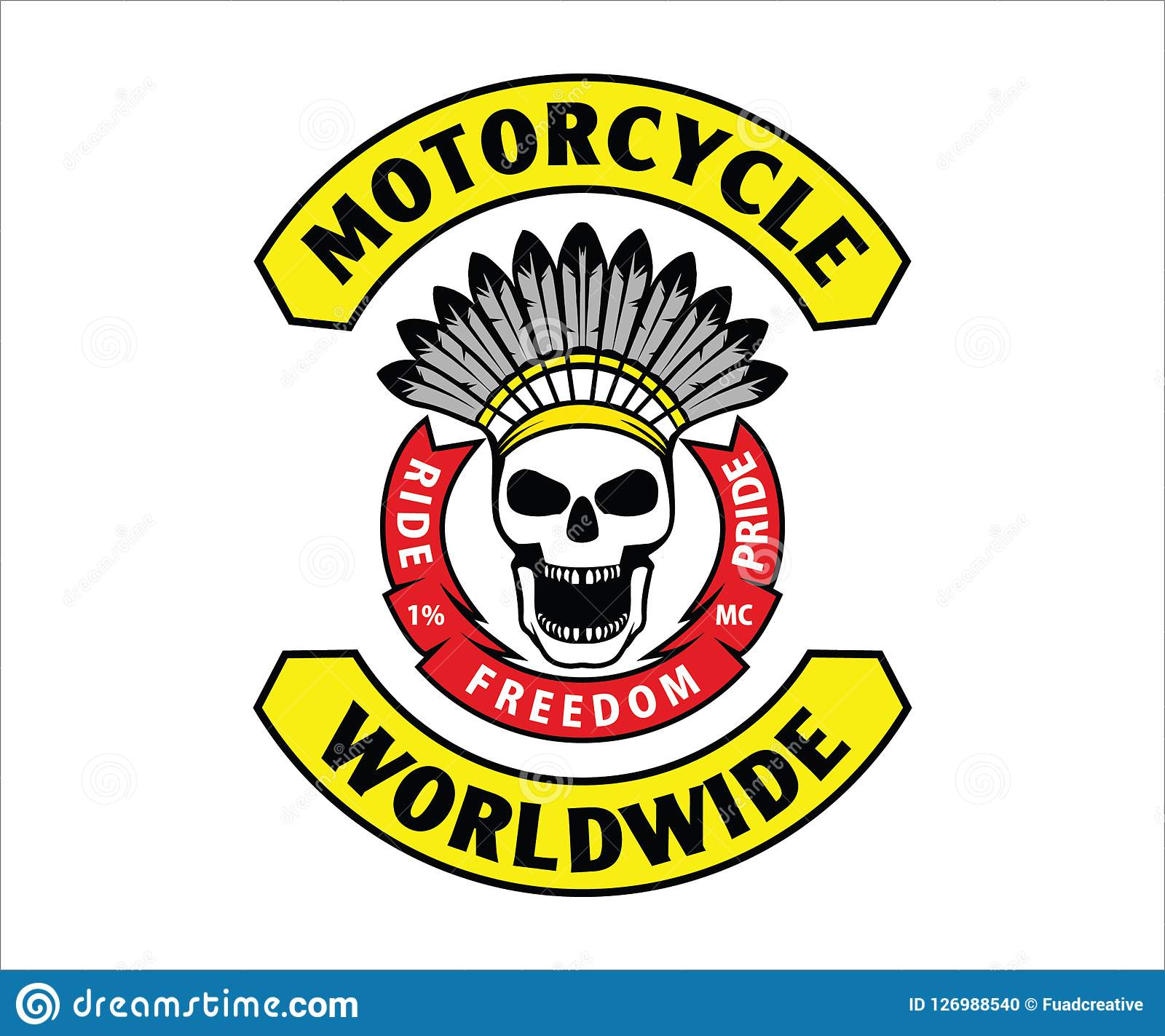 Design for colors motorcycle club for sticker decal emblem t shirt this design using adobe illustrator