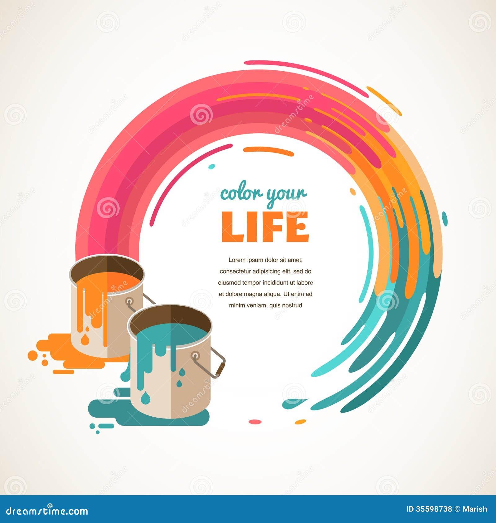 design creative idea and color concept royalty free