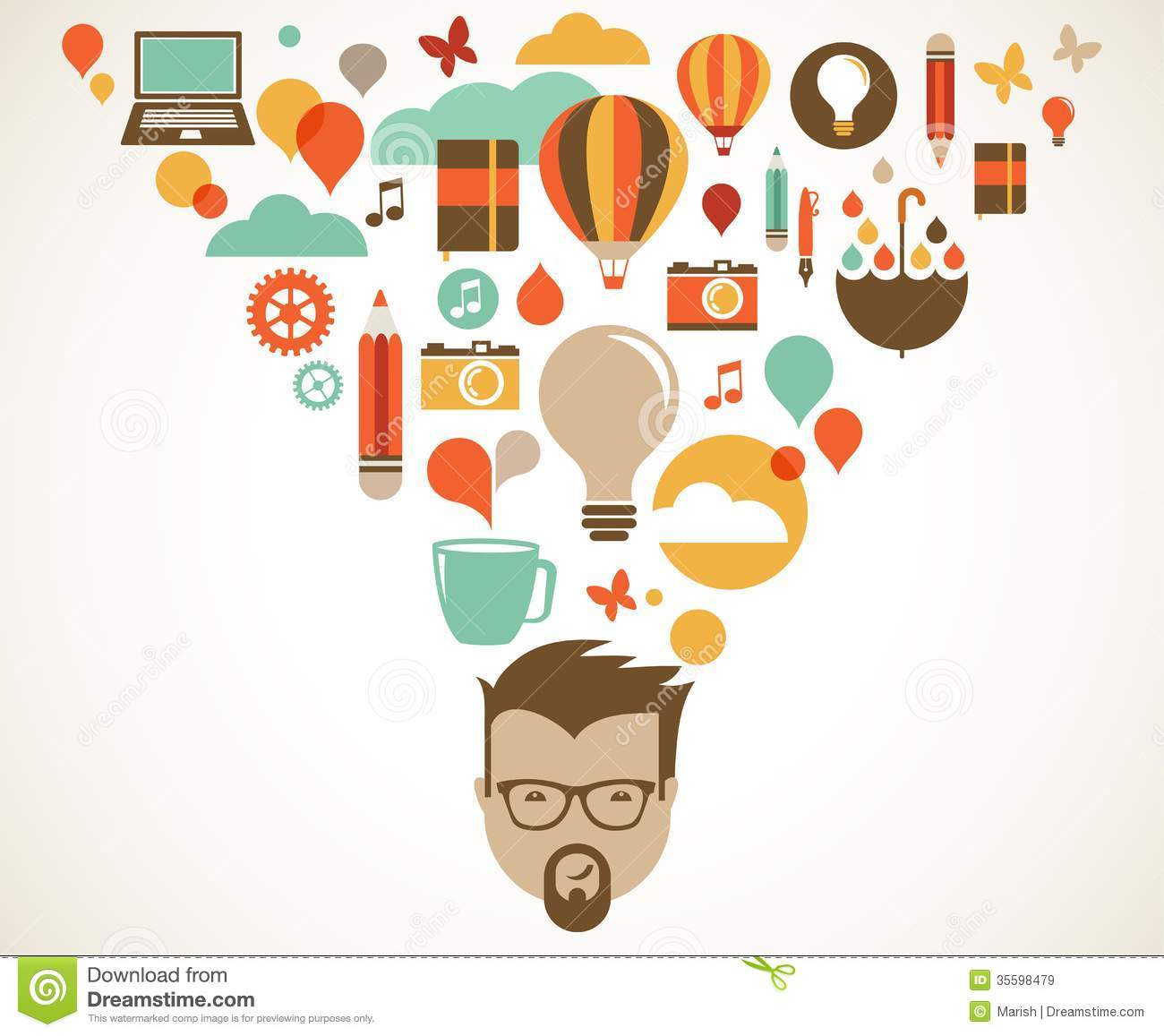 design creative idea and innovation concept royalty free