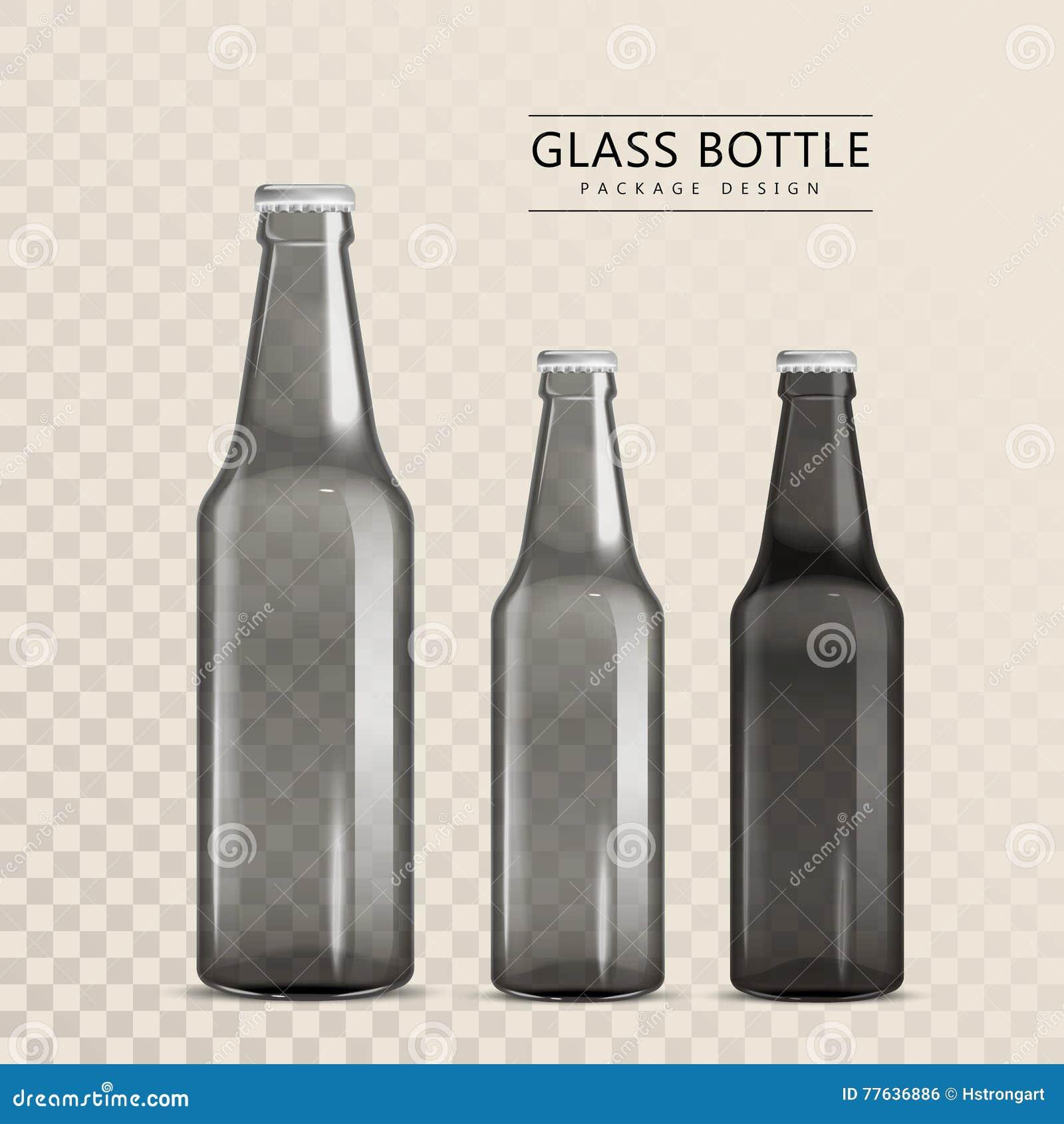 design d'emballage de bouteille en verre illustration stock