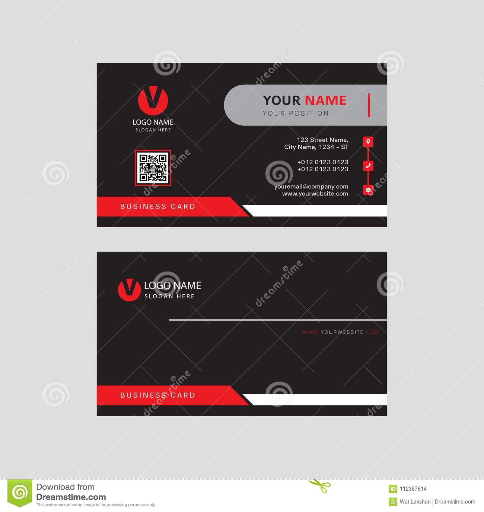 Design de carte contagieux d affaires d oeil professionnel moderne, conception de calibre de carte de visite