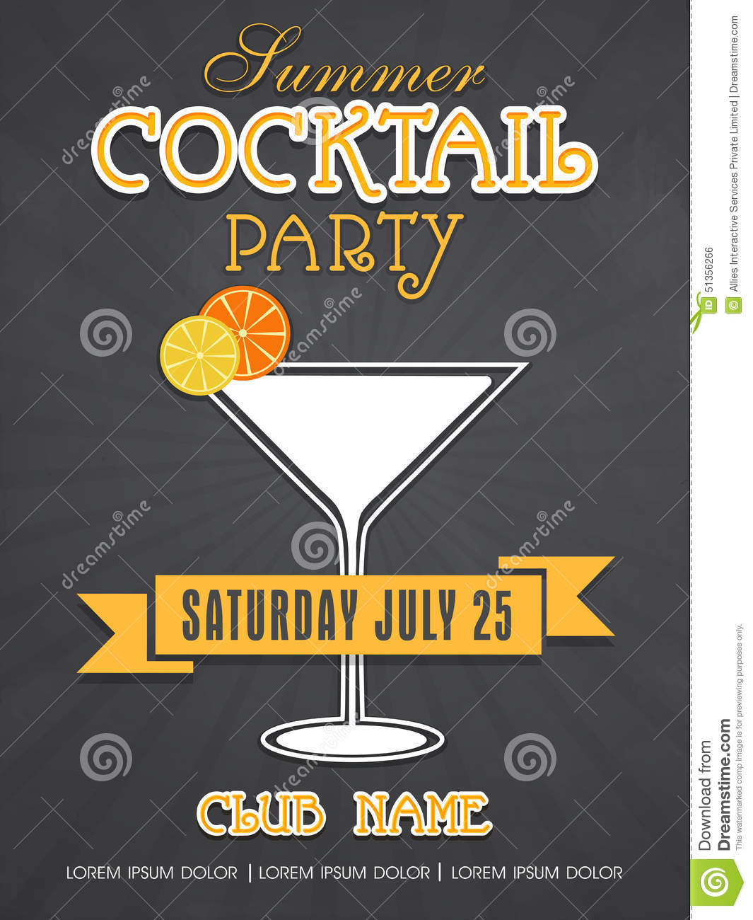 Cocktail Party Invitation Cards is awesome invitations template